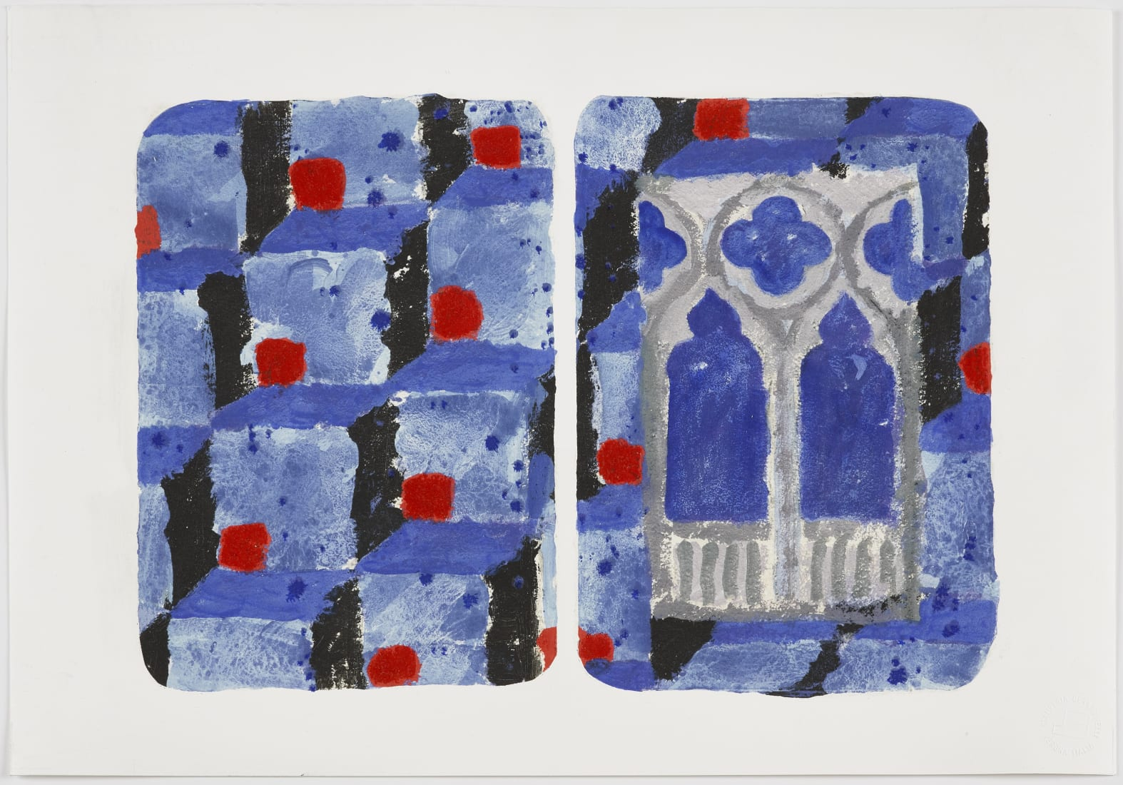 <p><strong><em>The Stones of Venice, ca&#8217; Foscari II, diptych</em></strong><br />2018<br />Inkjet prints with screenprint, carborundum and hand-colouring on Hahnem&#252;hle 350gsm paper<br />Paper and image 38.0 x 56.0 cm&#160;<br />Editions of 35</p>
