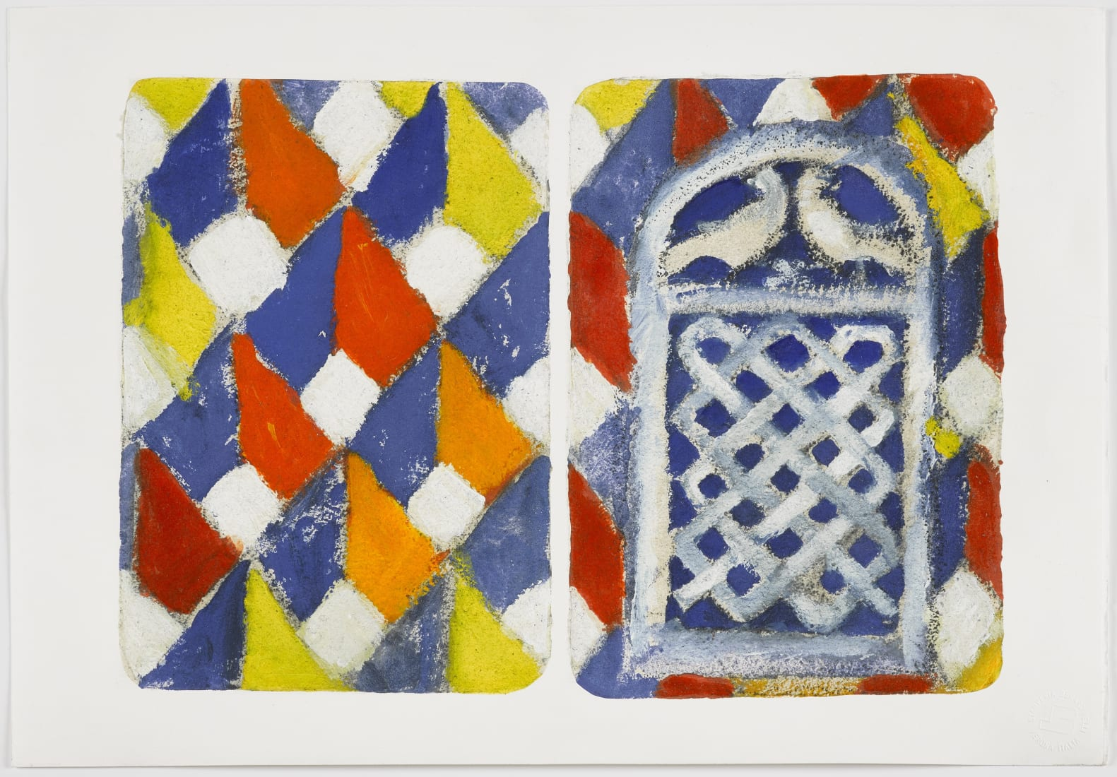 <p><em><strong>The Stones of Venice, sant' Alipio, diptych</strong></em><br />2018<br />Inkjet prints with screenprint, carborundum and hand-colouring on Hahnem&#252;hle 350gsm paper<br />Paper and image 38.0 x 56.0 cm <br />Editions of 35</p>