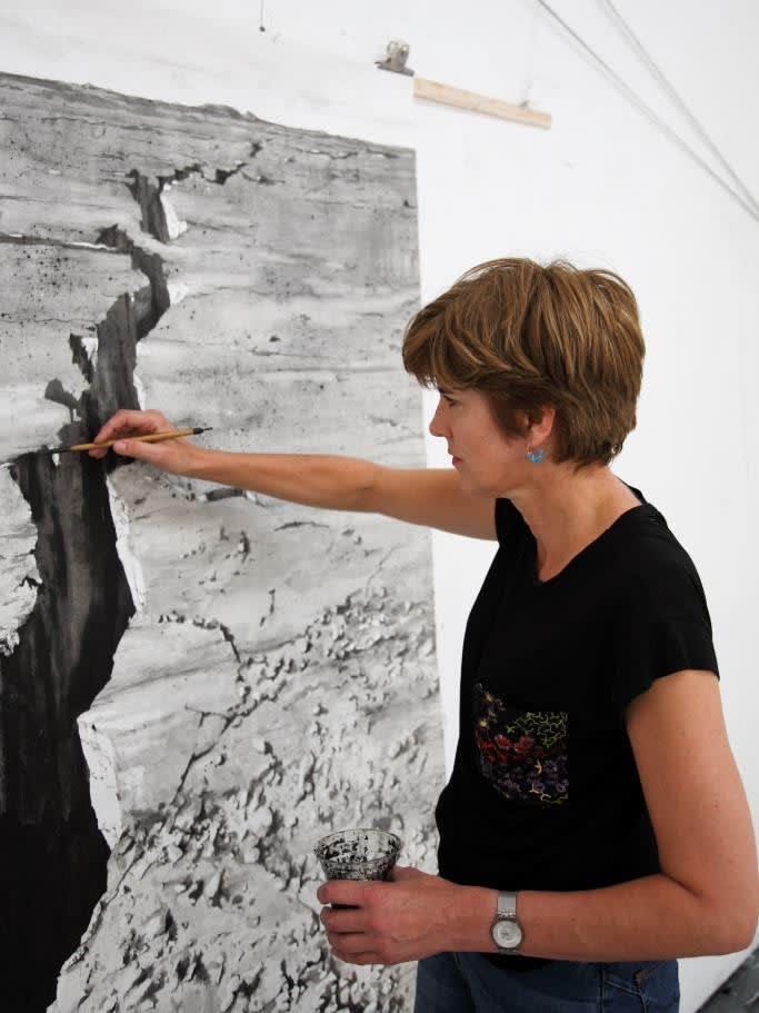 <p>Emma Stibbon in her studio in Spike Island, Bristol.</p>