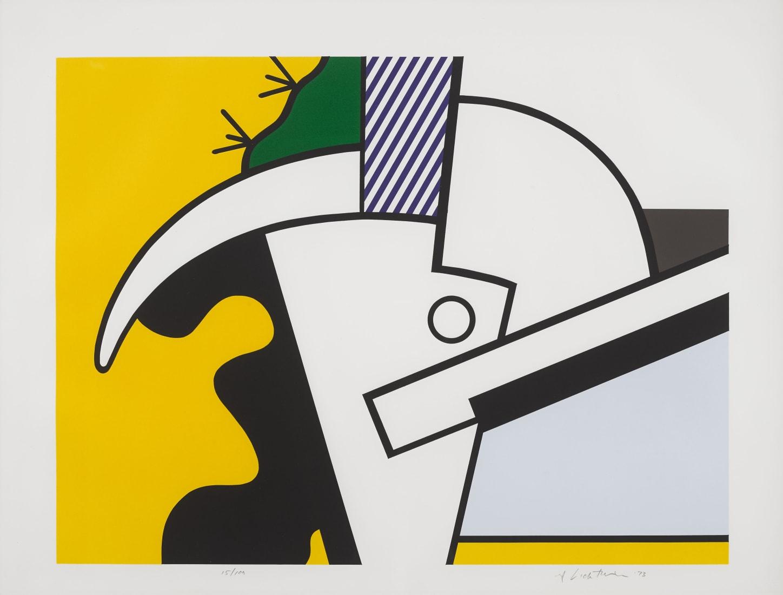 """<p><span class=""""artist""""><strong>Roy Lichtenstein</strong></span>,<span class=""""title""""><em>Bull Head Series</em>, 1973</span></p>"""