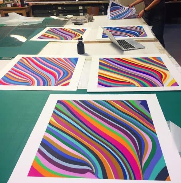 <p>Proofing prints at Thumbprint Editions, London.</p>