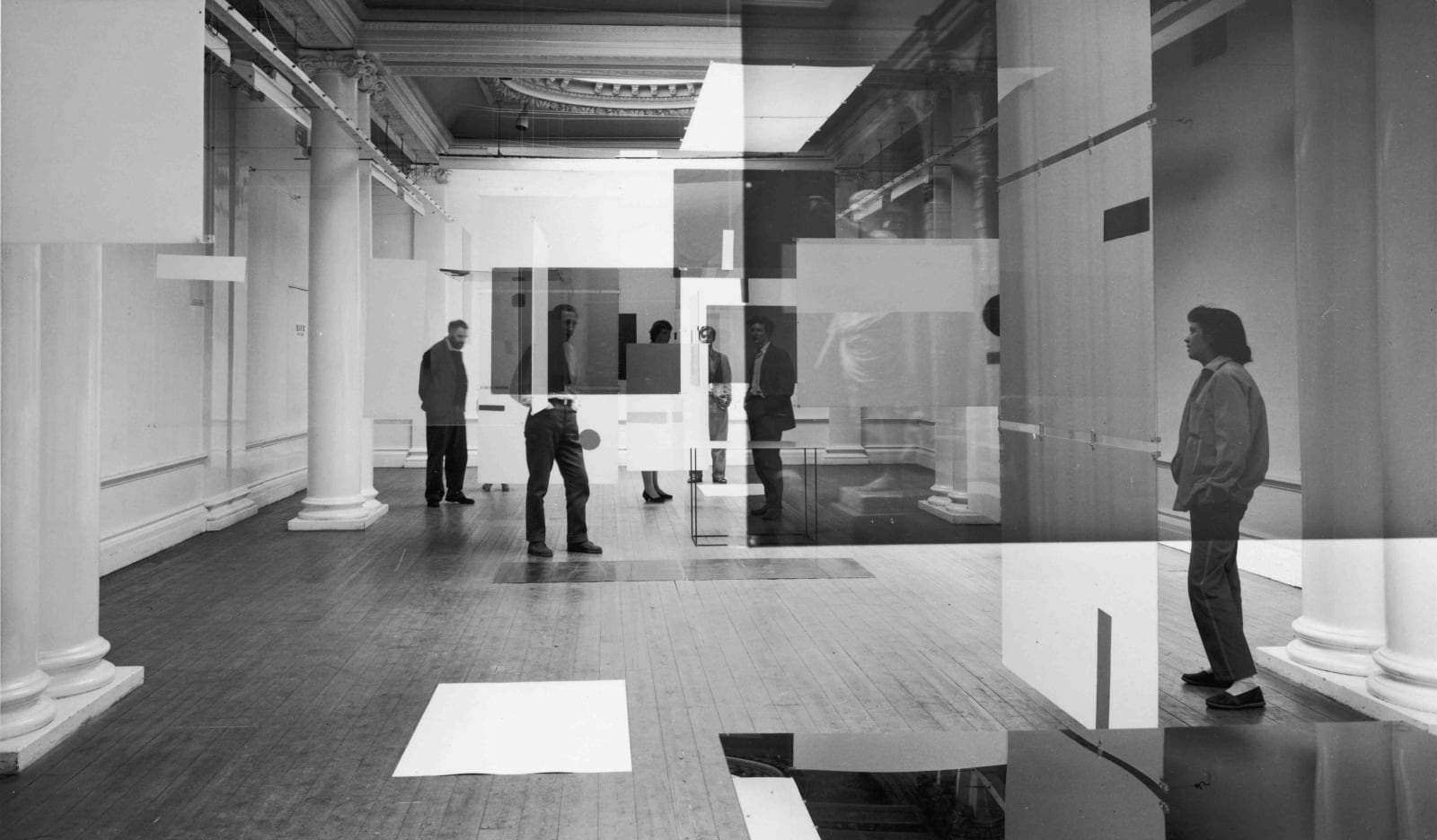 <p>Richard Hamilton and Victor Pasmore;<em> An Exhibit</em>, 1957</p>