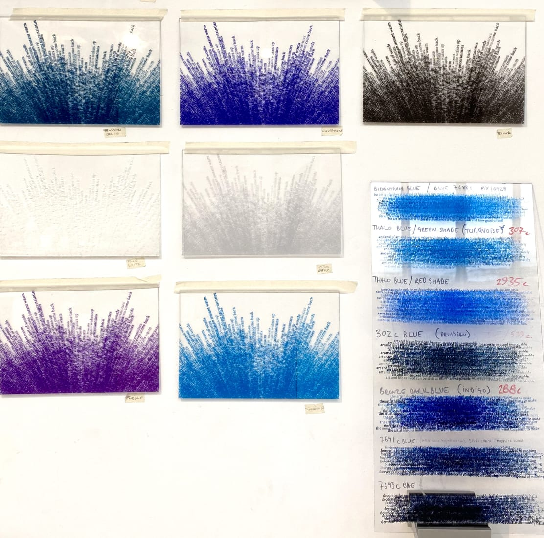 <p>Testing colours for the edition in the studio. Photo: Idris Khan.</p>