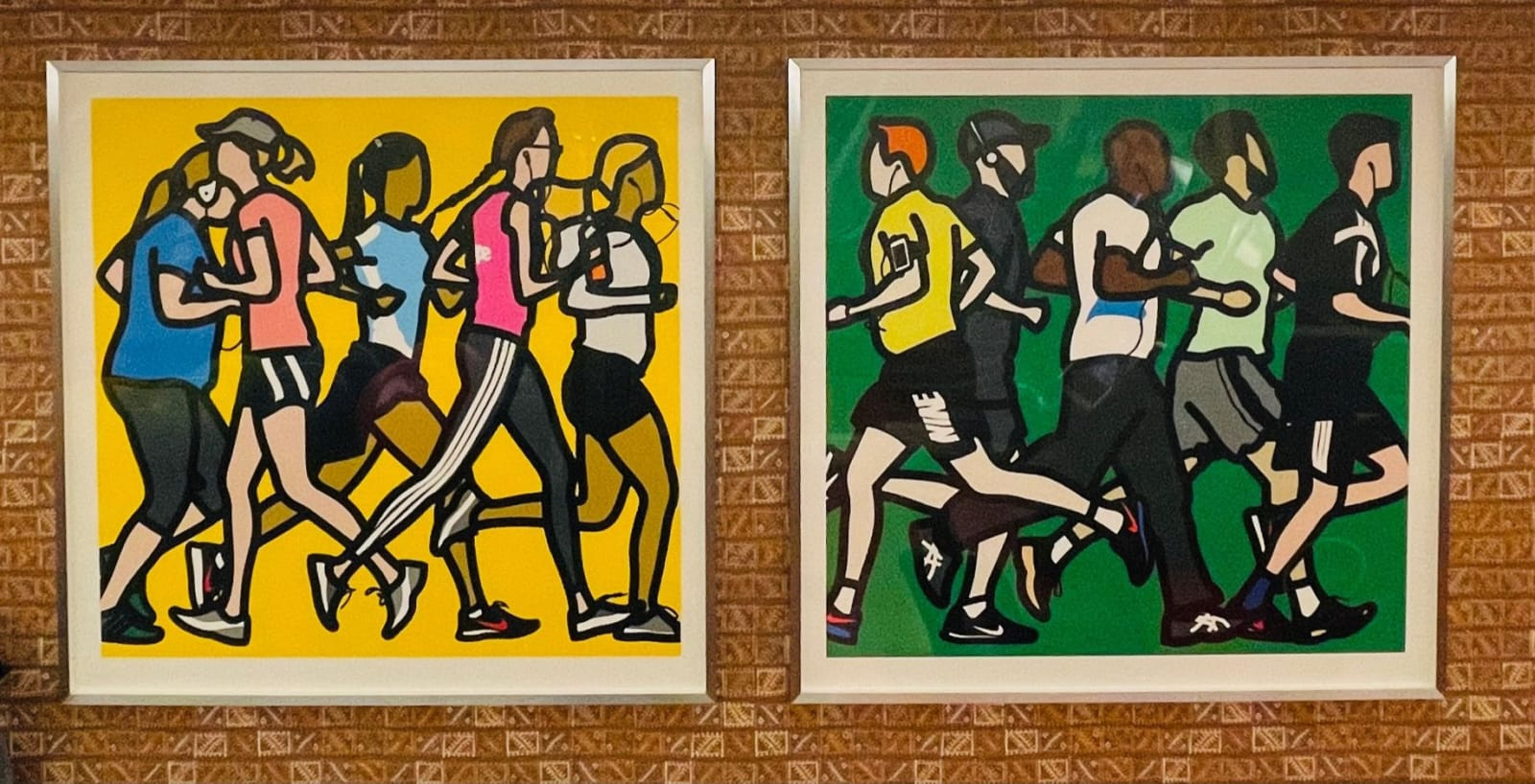<p><em>Runners.</em>, 2016, by Julian Opie installed in the Whitby Hotel Gym, New York.</p>