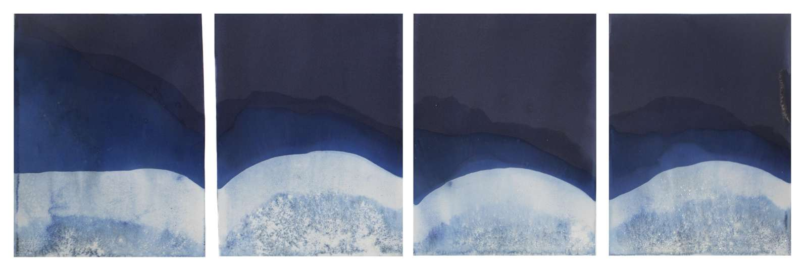 S.F. artist Meghann Riepenhoff works with waves on abstract works