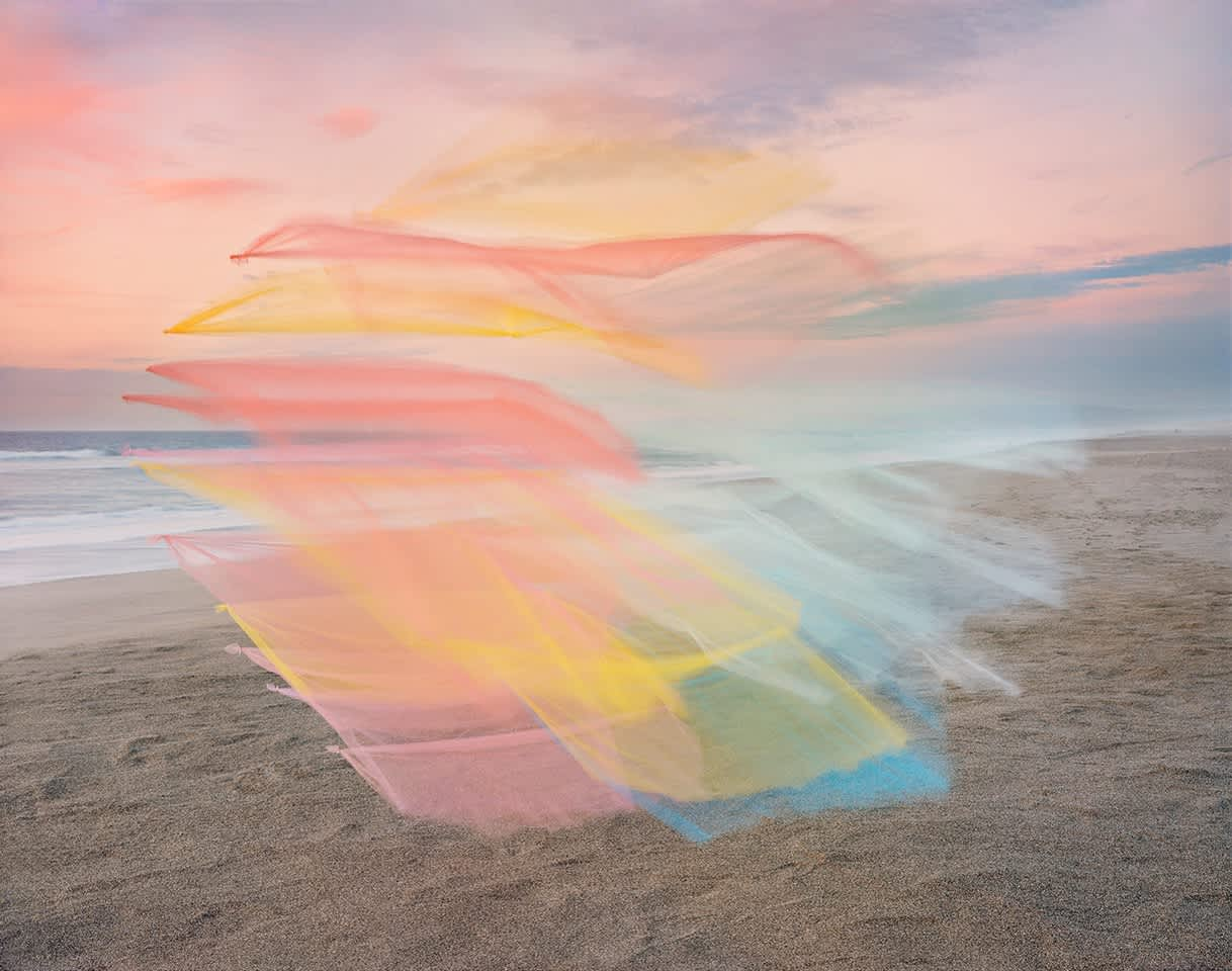 Colorful Tufts of Tulle Float Down the California Coastline in New Photographs by Thomas Jackson