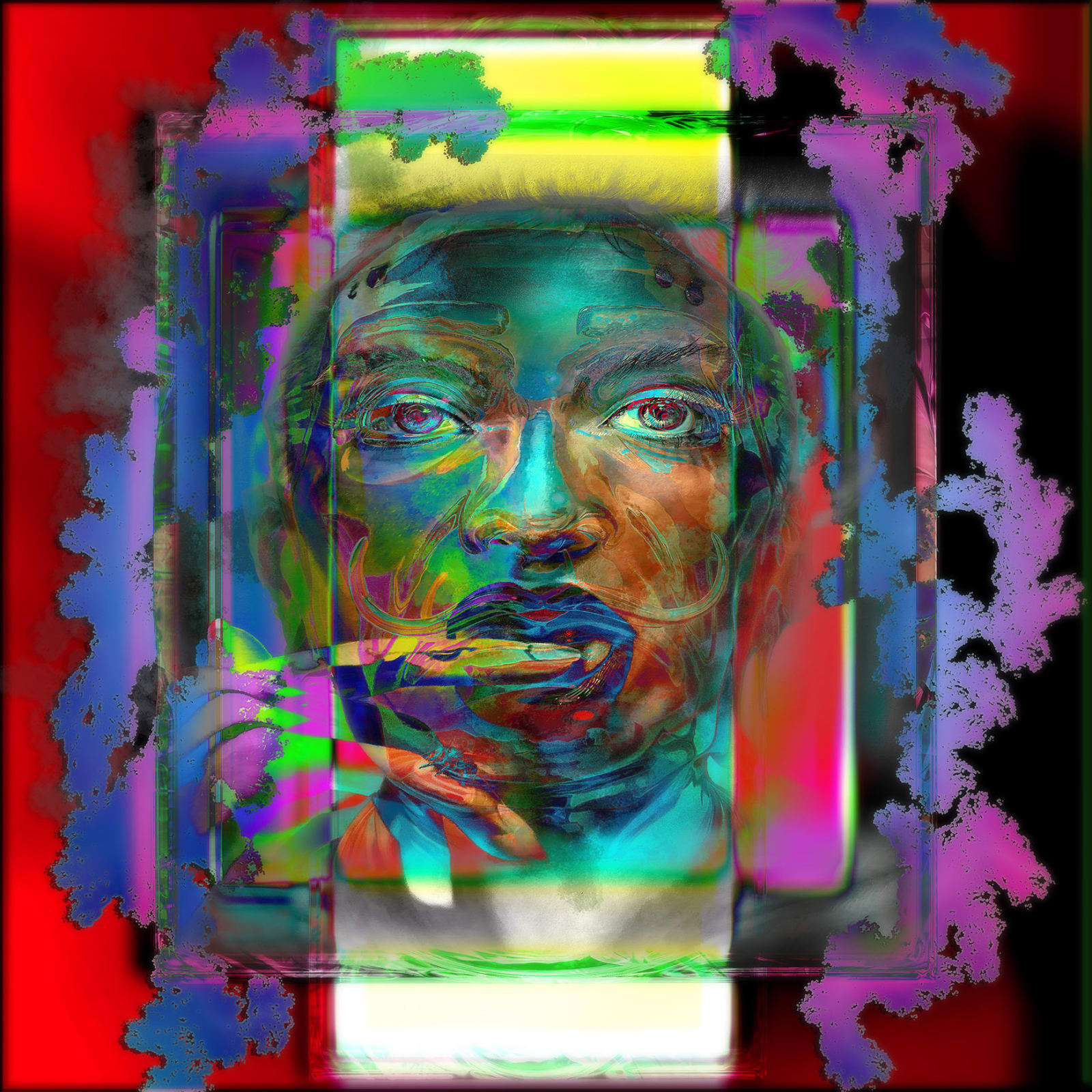 Jens-Christian Wittig, Framed Color Face III, 2019