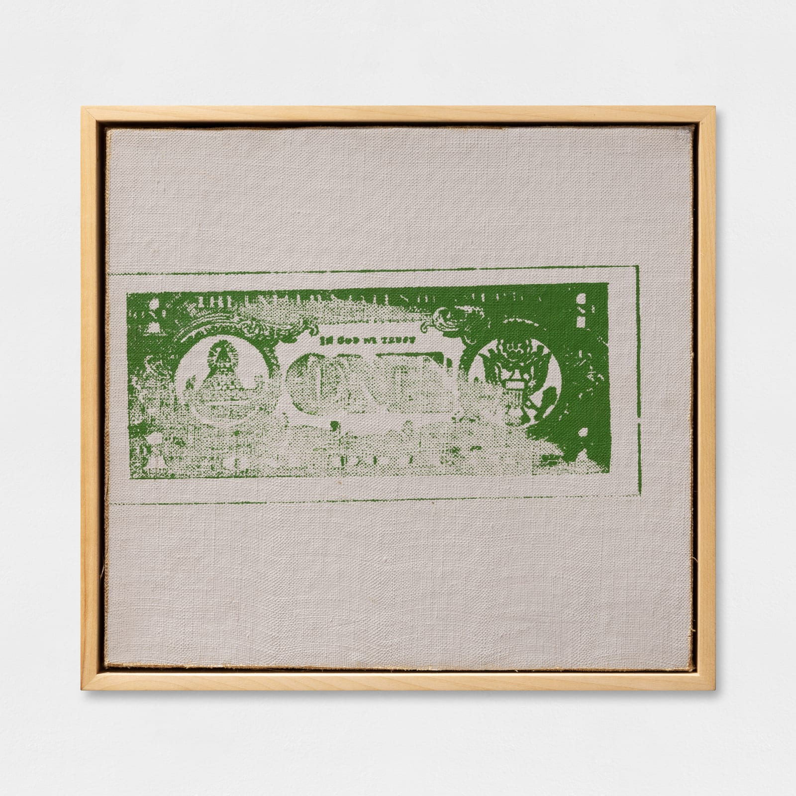 Andy Warhol, One Dollar Bill (Back), 1962