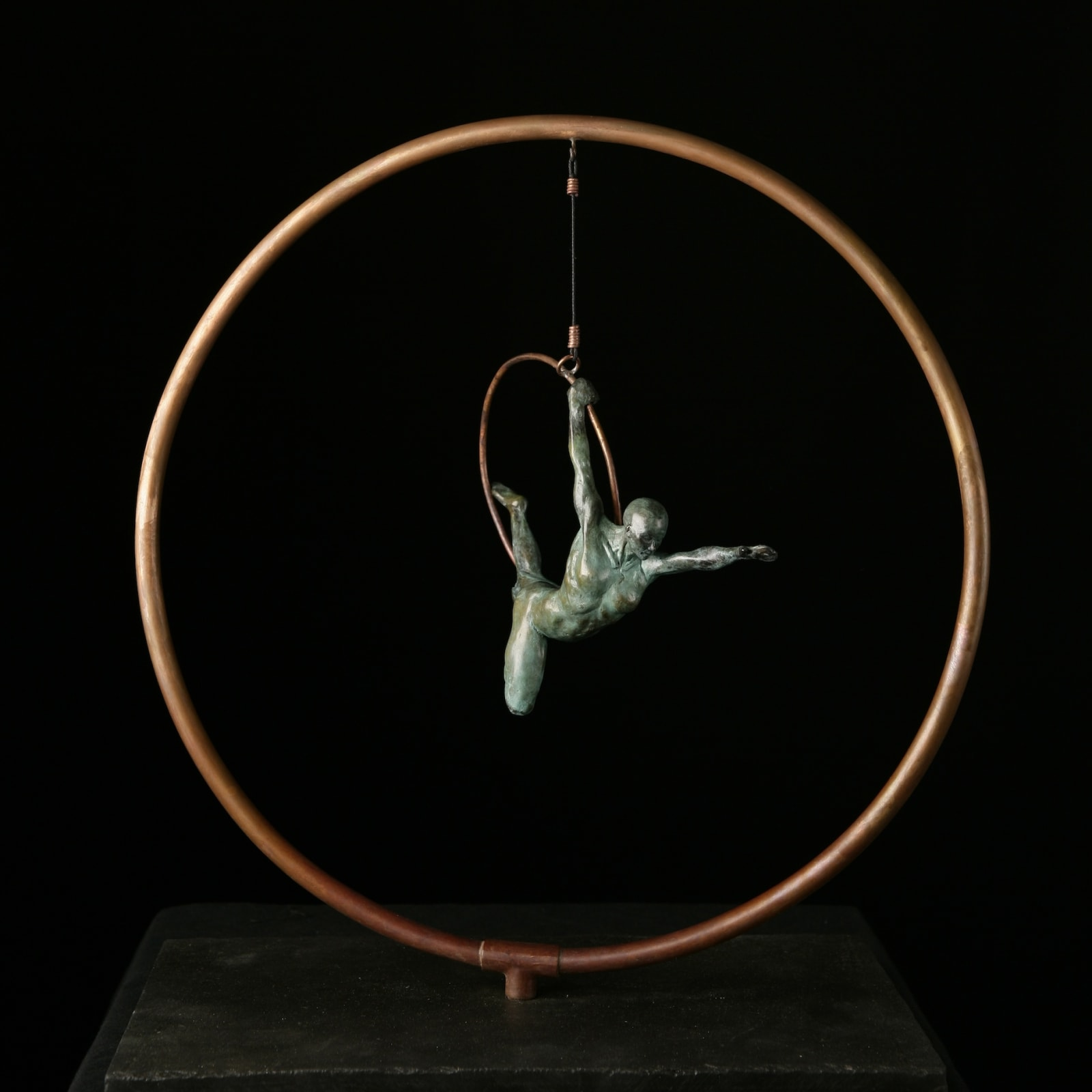 Brendon Murless  Rings, 2019  Bronze Sculpture  37 x 33 x 10 cm  14 5/8 x 13 x 4 in  Edition 7 of 8