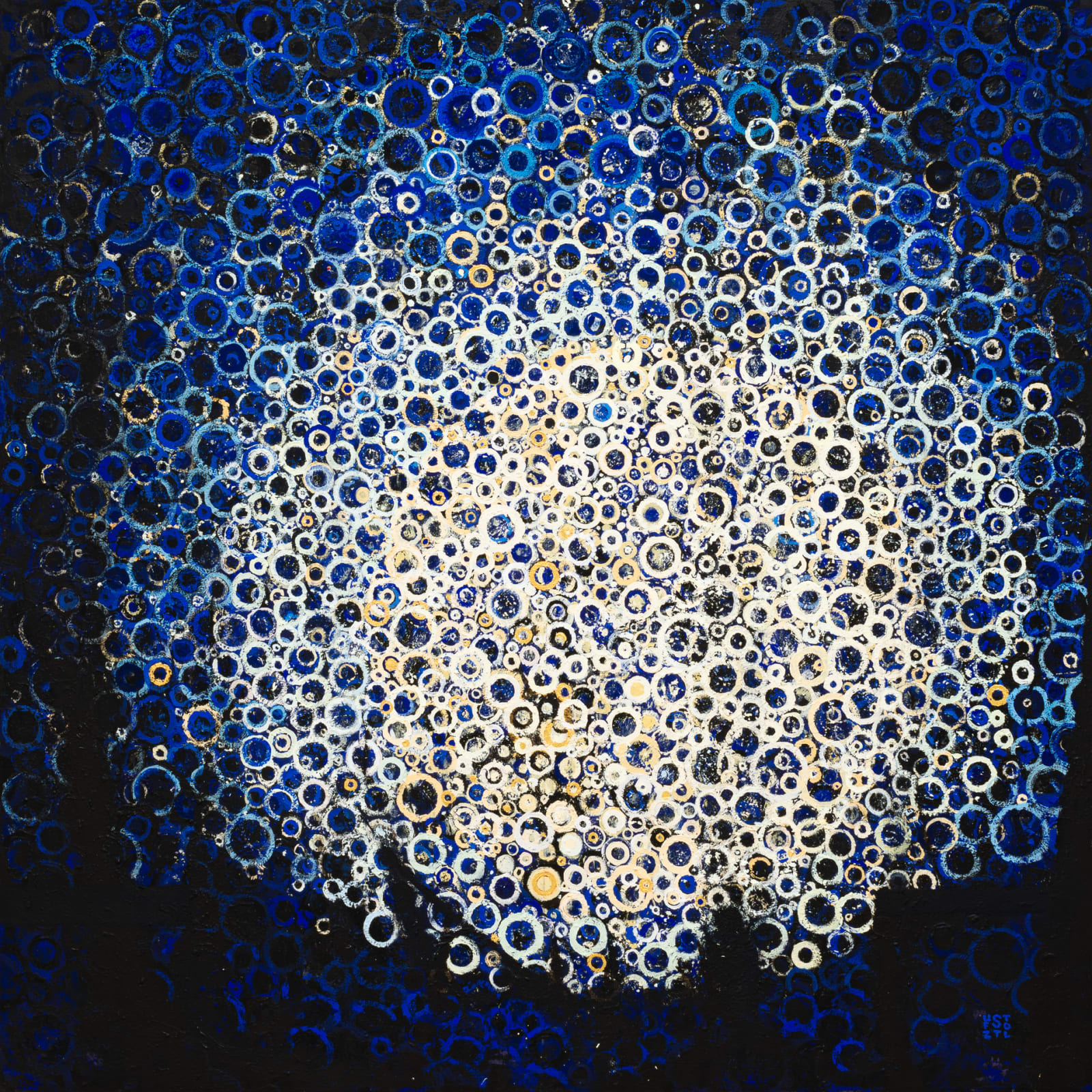 Randall Stoltzfus  Moonrise, 2019  Acrylic dispersion on polymer canvas  48 x 48 in