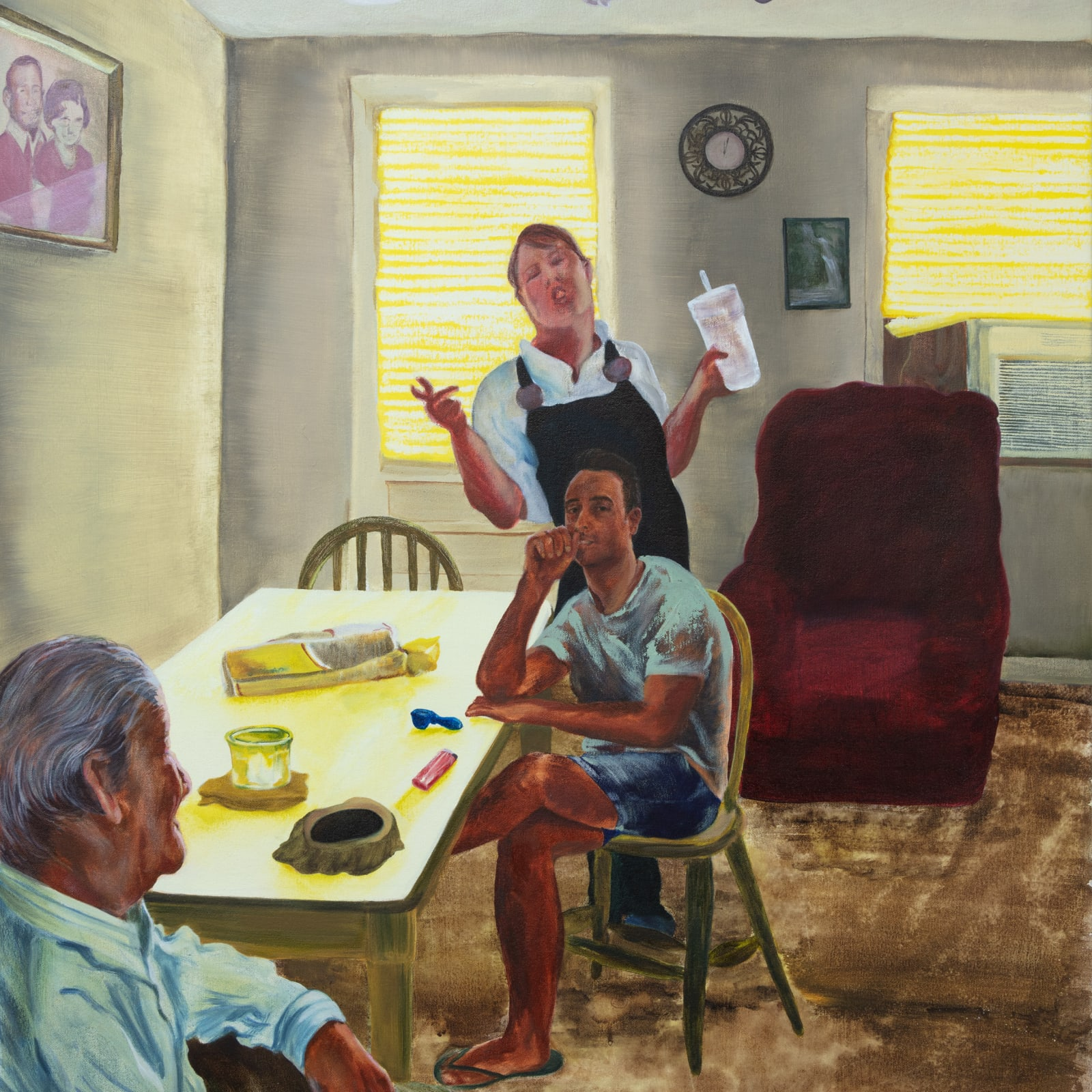 Maggie Ellis  Tommy's House, 2019  Oil on canvas  40 x 35 in (101.6 x 88.9 cm)