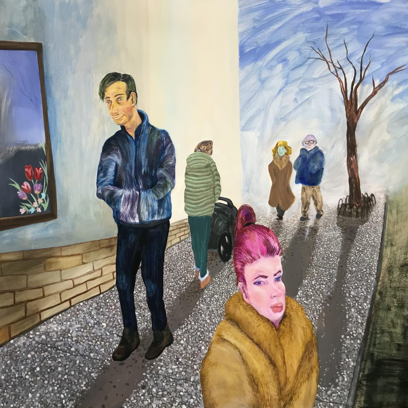 Maggie Ellis  Cold Sunset, 2020  Oil on linen  41 x 54 in (104.1 x 137.2 cm)