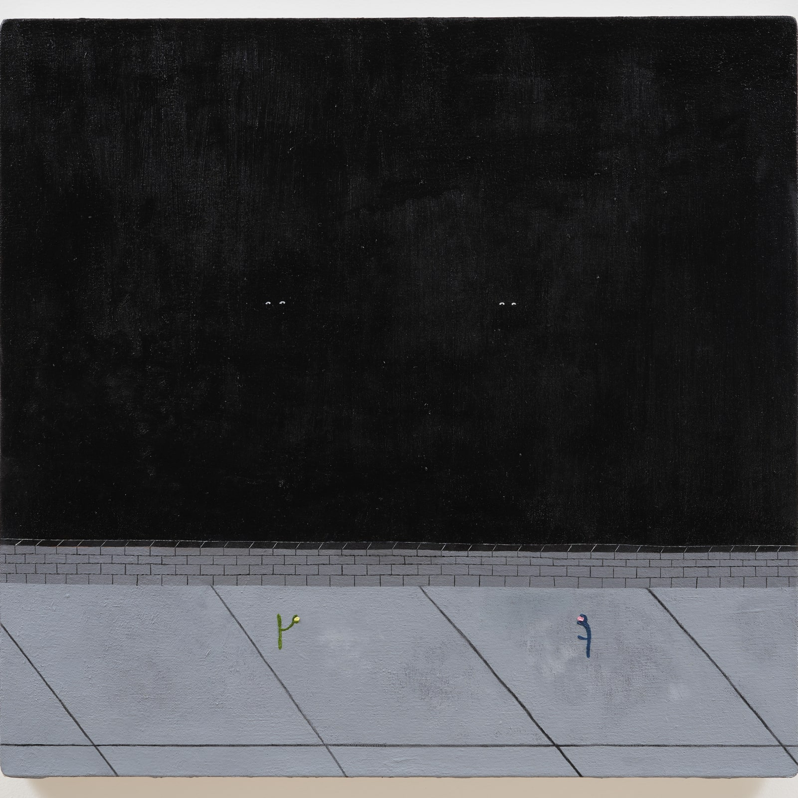 Kenny Rivero  Ancestors, 2018  Oil on canvas  24 1/2 x 25 1/4 in (62.2 x 64.1 cm)