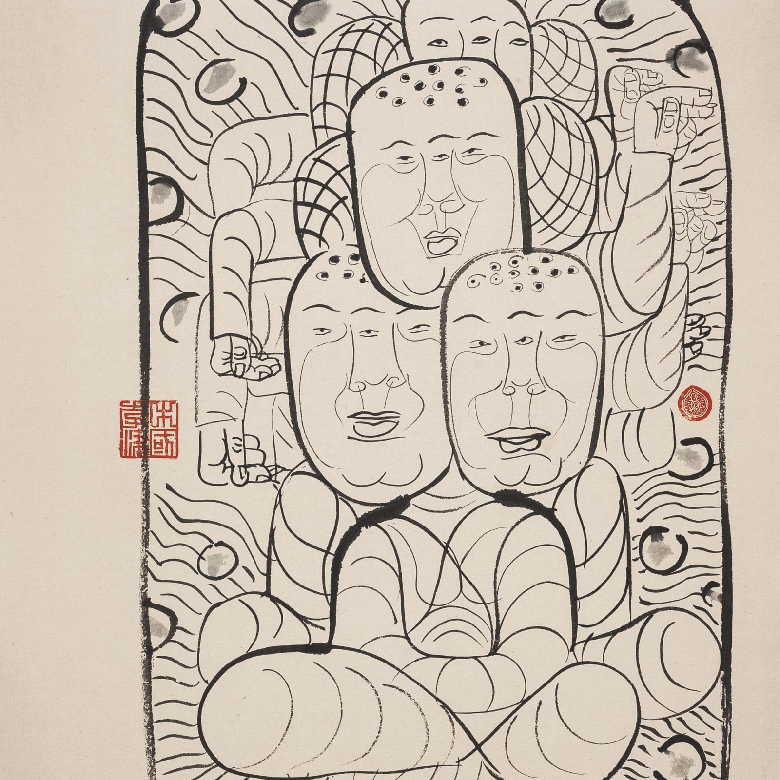 Li Jin 李津, Myriad Monks 众僧, 1993