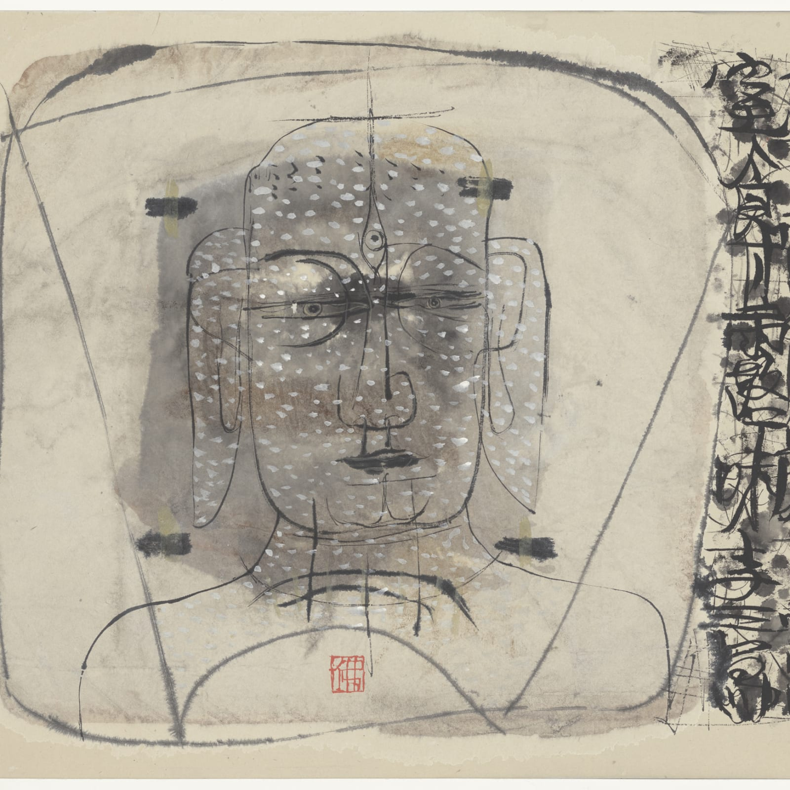 Li Jin 李津, Three-Eyed Buddha Face 三眼佛面, 1993