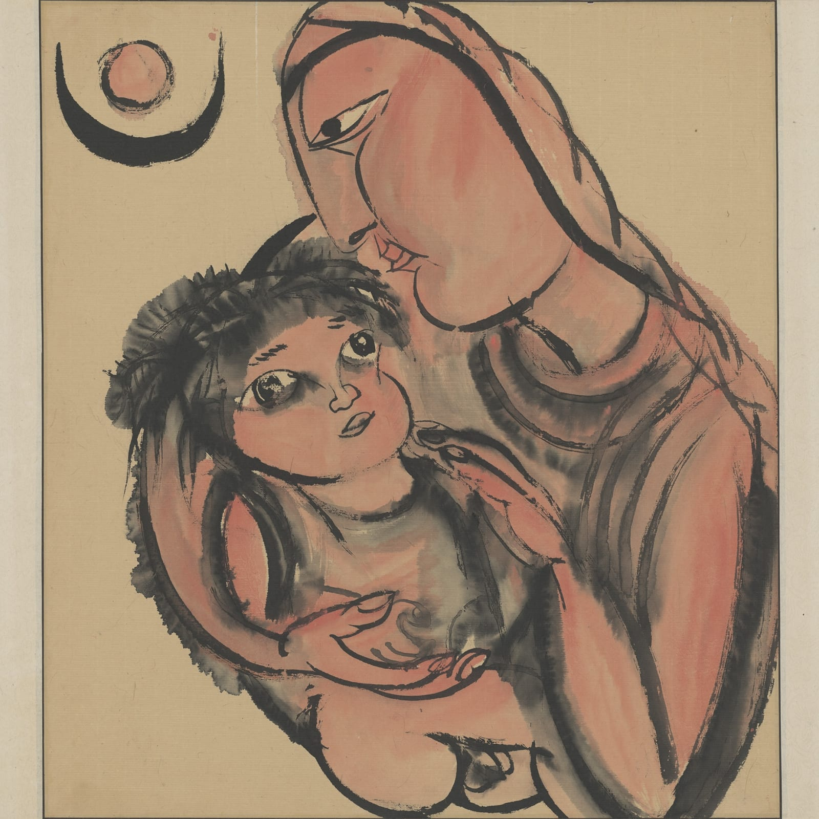Li Jin 李津, The Tibet Series III: Breastfeeding 西藏组画之三:哺育, 1984