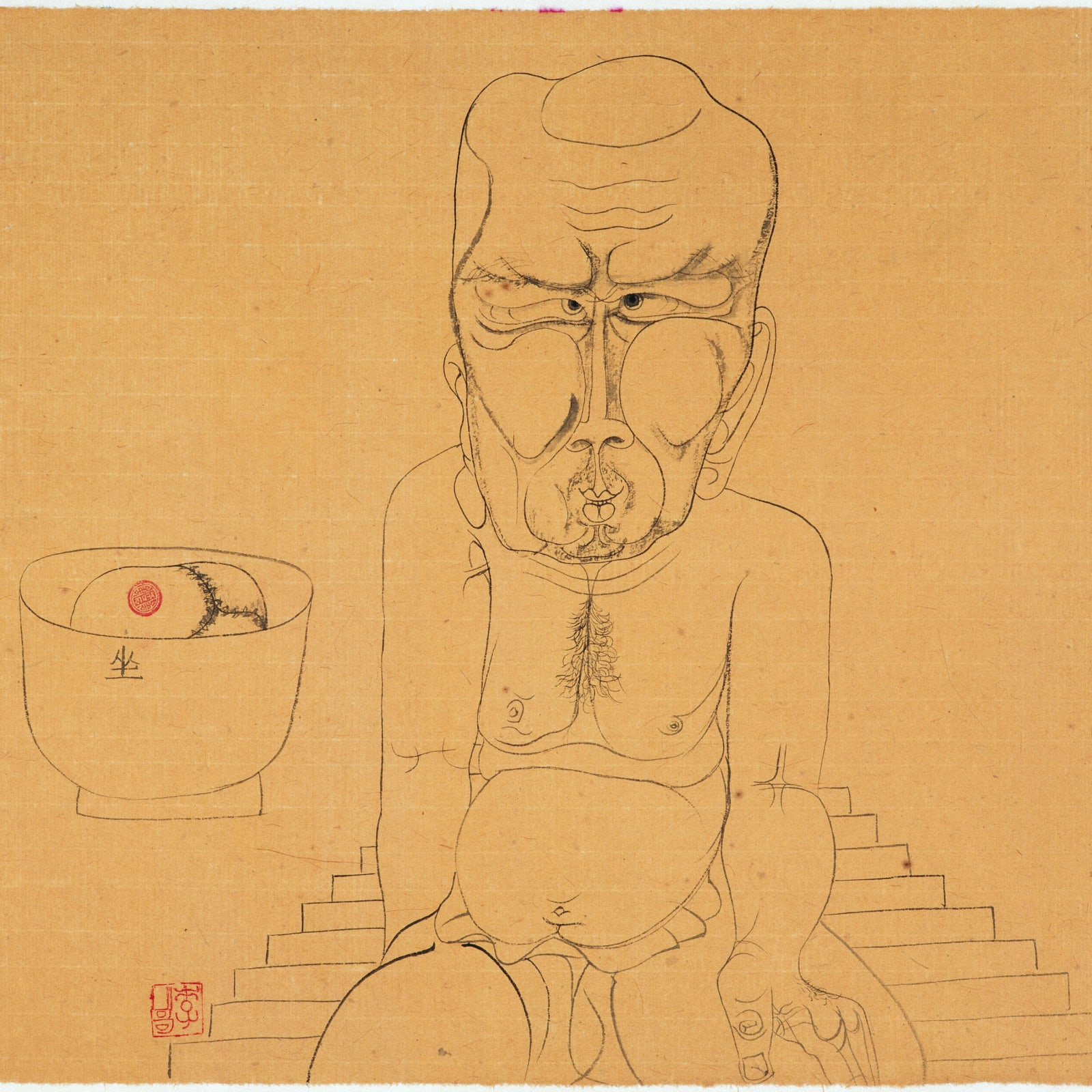 Li Jin 李津, Lhasa Drawing: Skull 拉萨白描:骷髅头, 1993