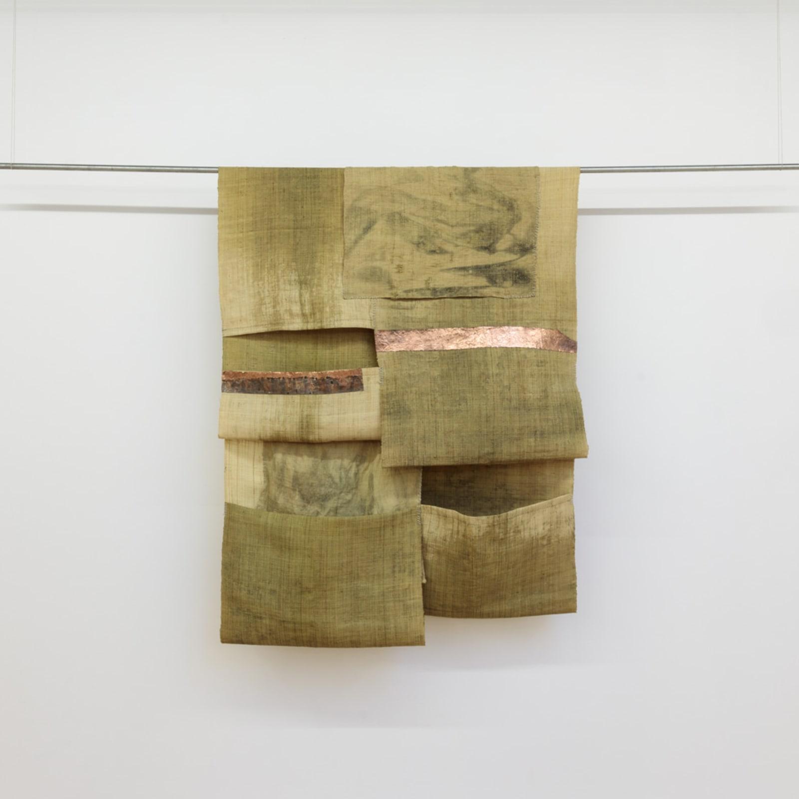 Tahir Carl Karmali  STRATA IV, 2018  raffia, cobalt, plastic, copper, graphite and lithium  137,2 x 104,1 cm