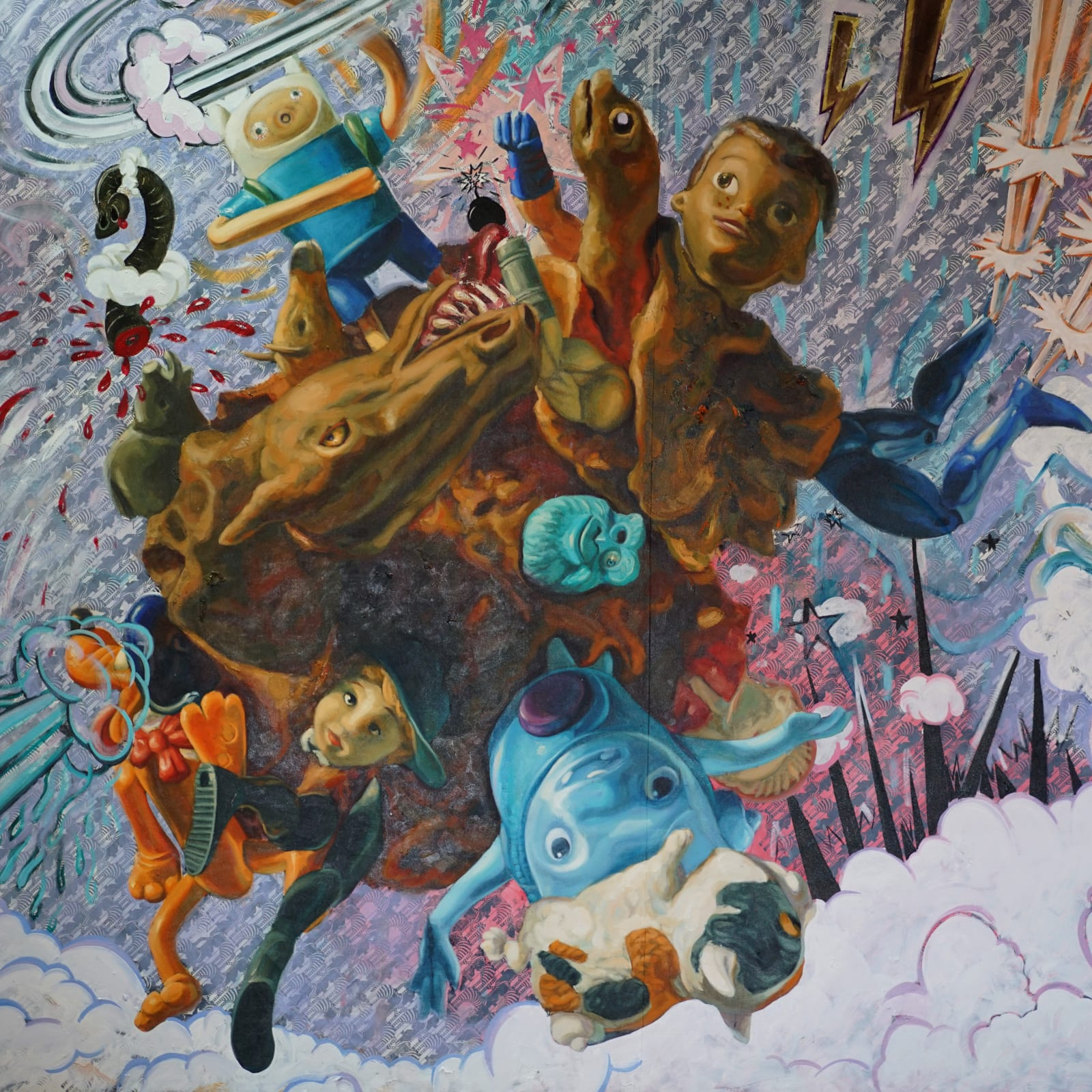 Miguel Alejandro Machado Suarez  Beyond Toy Stories 4, 2017  acrylic and oil on canvas  200 x 200 cm