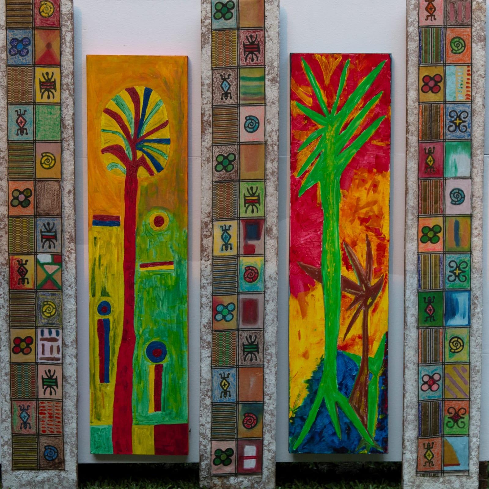 Véronique Tadjo  Petite Forêt Verte, 2020  Mixed media  180 x 152 cm  70 7/8 x 59 7/8 in