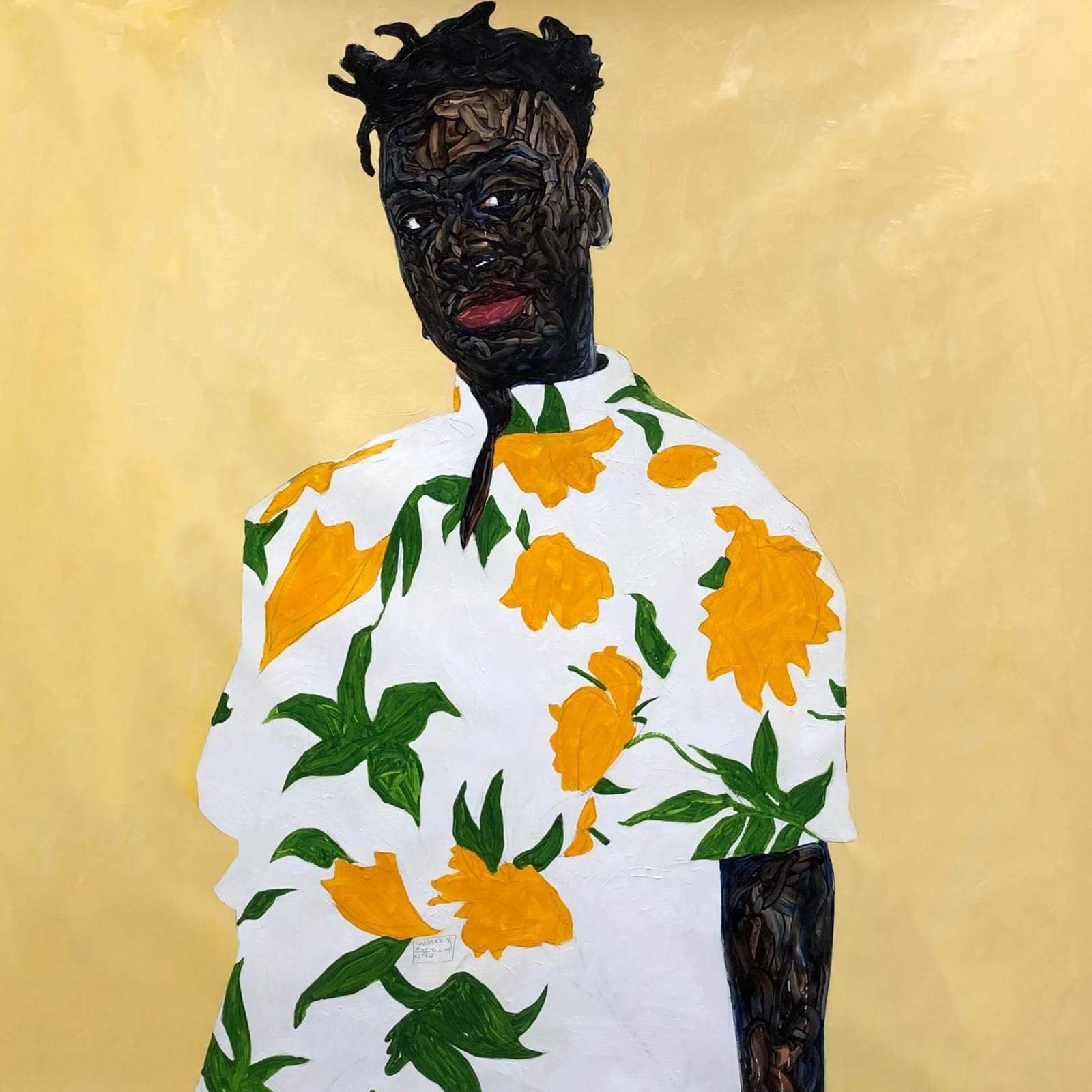 Amoako Boafo, Sunflower Shirt, 2019