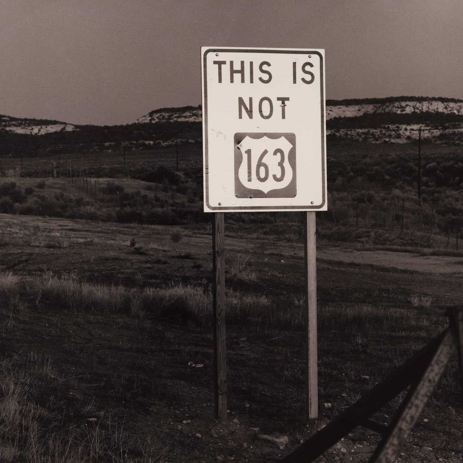 Bob Kolbrener  This Is Not 163, Utah, 1978  Silver Gelatin  10 1/2 x 13 1/2 in