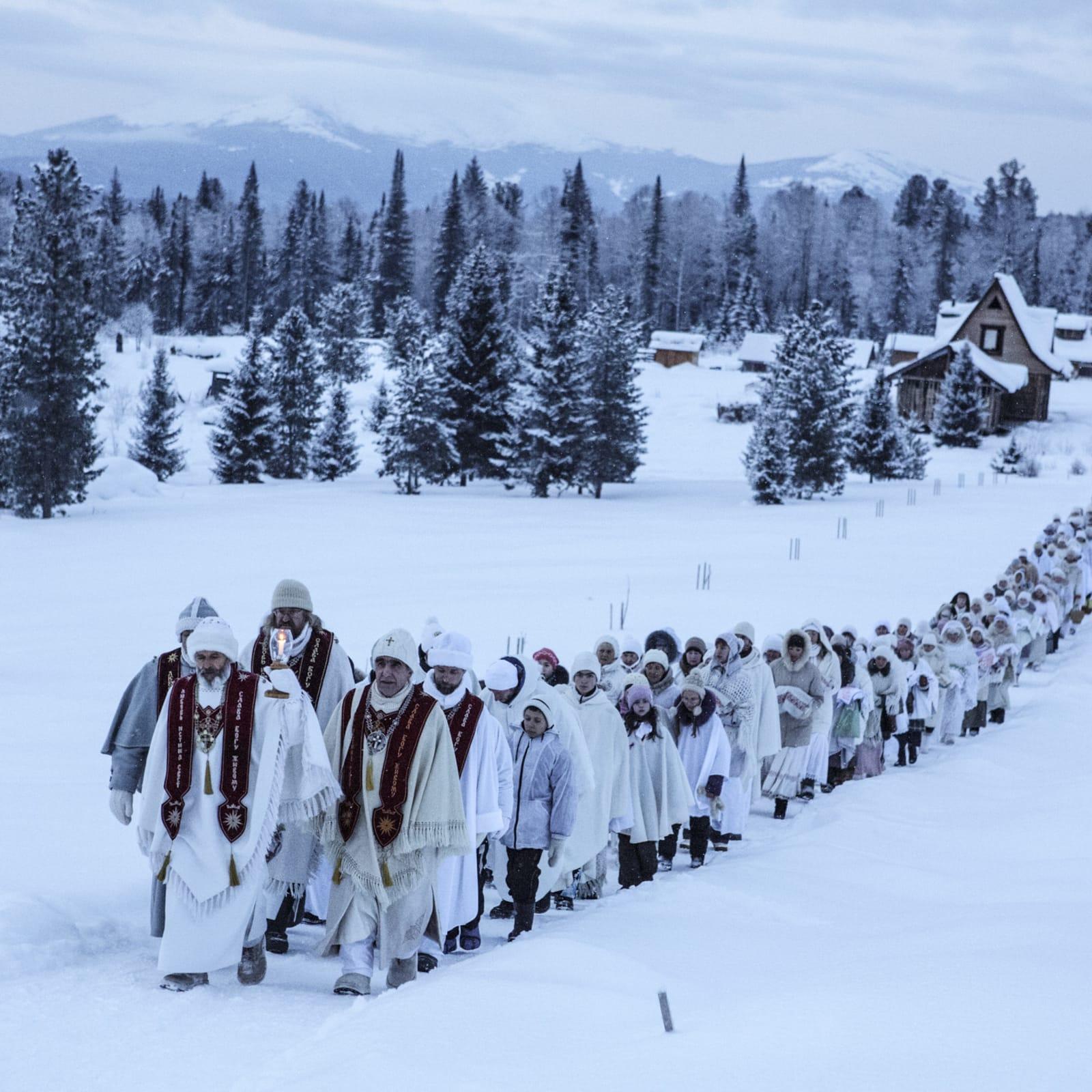 Jonas Bendiksen  Christmas pilgrimage, Russia, 2015  Pigment Print  71,5 x 100 cm  Edition of 8 plus 2 artist's proofs