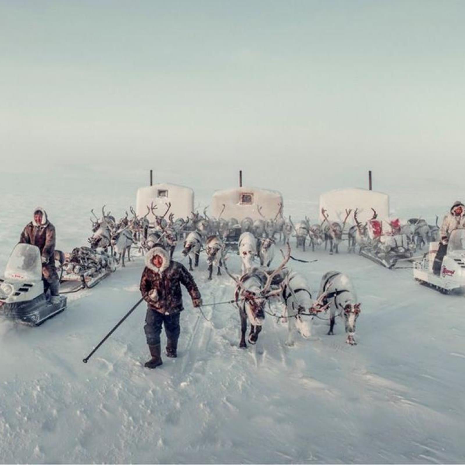 Jimmy Nelson  Dolgans, Siberia, 2018  Archival Print  Image size 80 x 160 cm  Framed size 108 x 188 cm  Edition of 6 plus 2 artist's proof