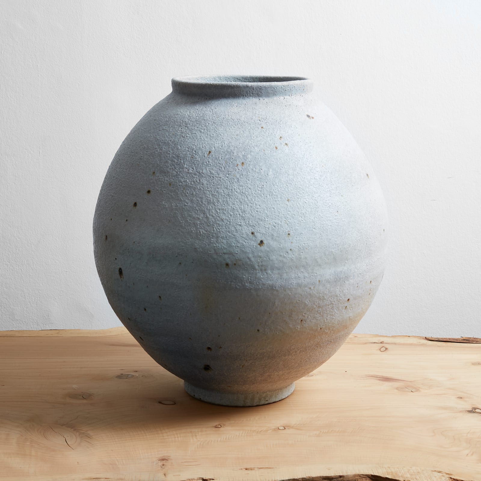 Mun Pyung  Salt Moon Jar, 2016  White porcelain and salt  58 x 50 x 50 cm