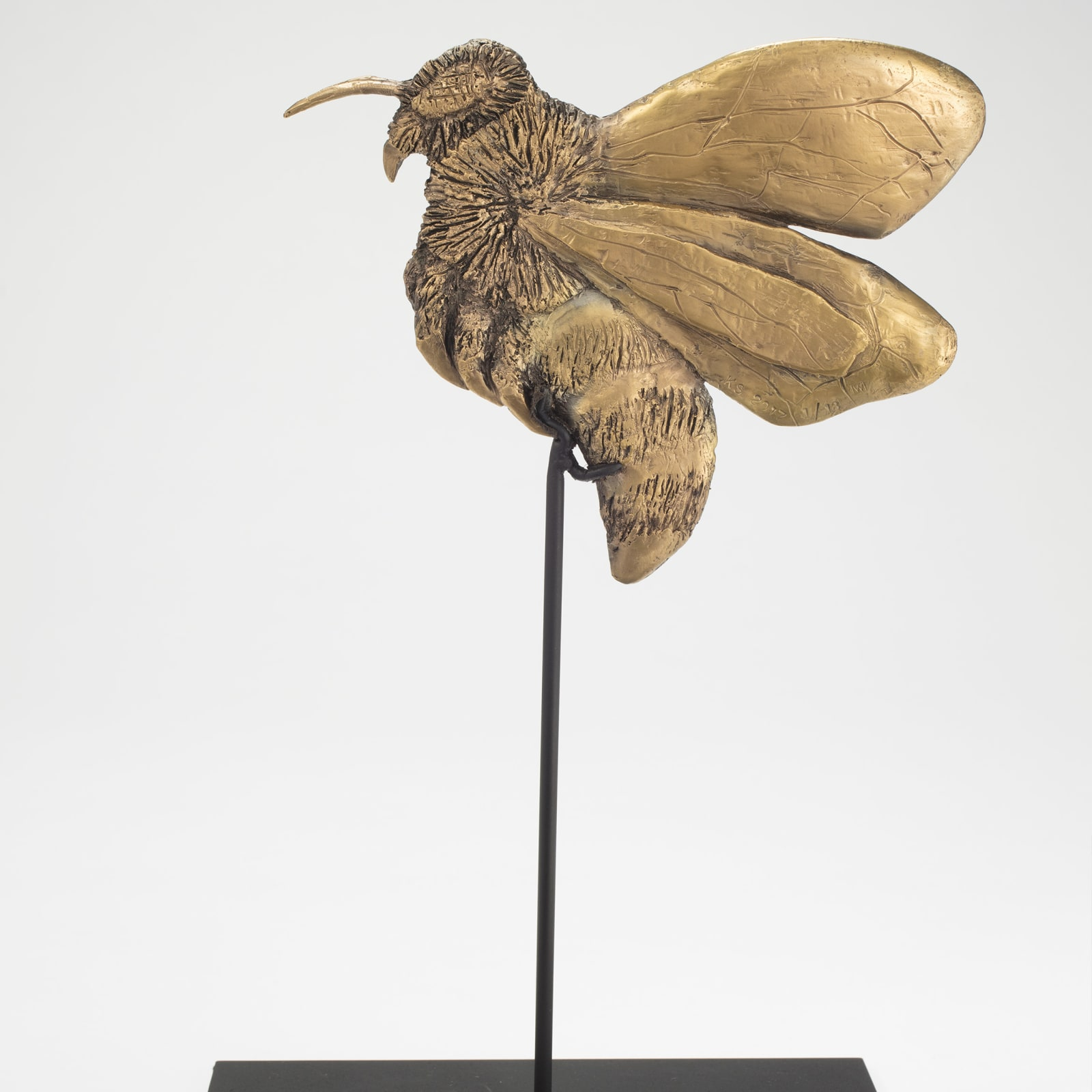 Kiki Smith  Forager A, 2017  Gold Plated Bronze  29.2 x 19.3 x 10 cm  Edition 3  Edition of 13 + 1 AP