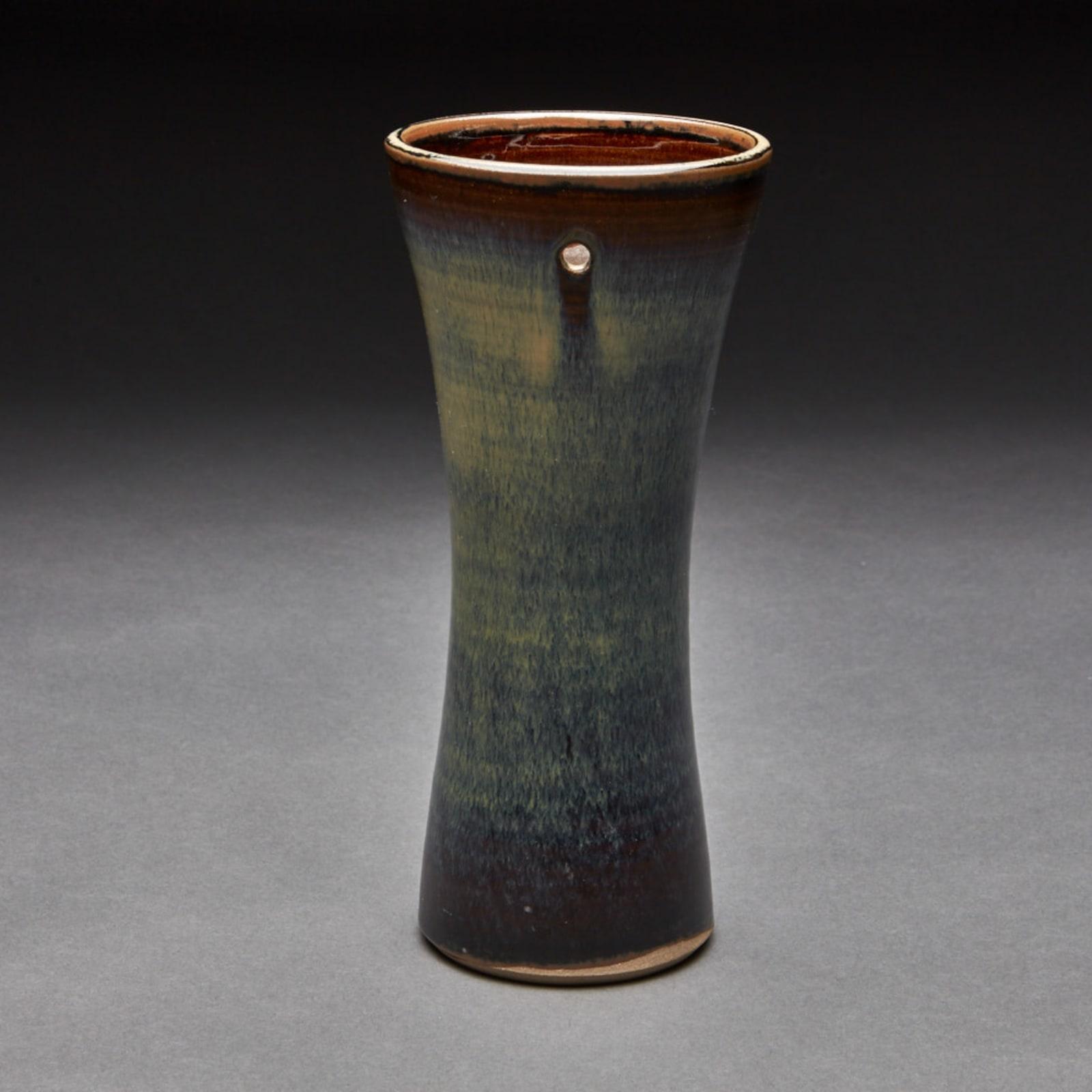 Takatori  85, 2016  Tenmoku Glazed Porcelain  22 x 10.1 x 10.1 cm