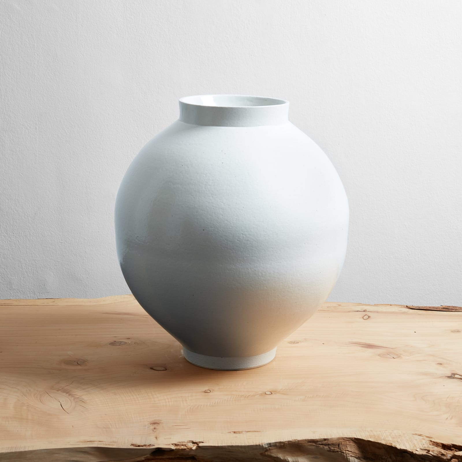Kim Dong Jun  Moon Jar, 2017  White porcelain  49 x 45 x 45 cm