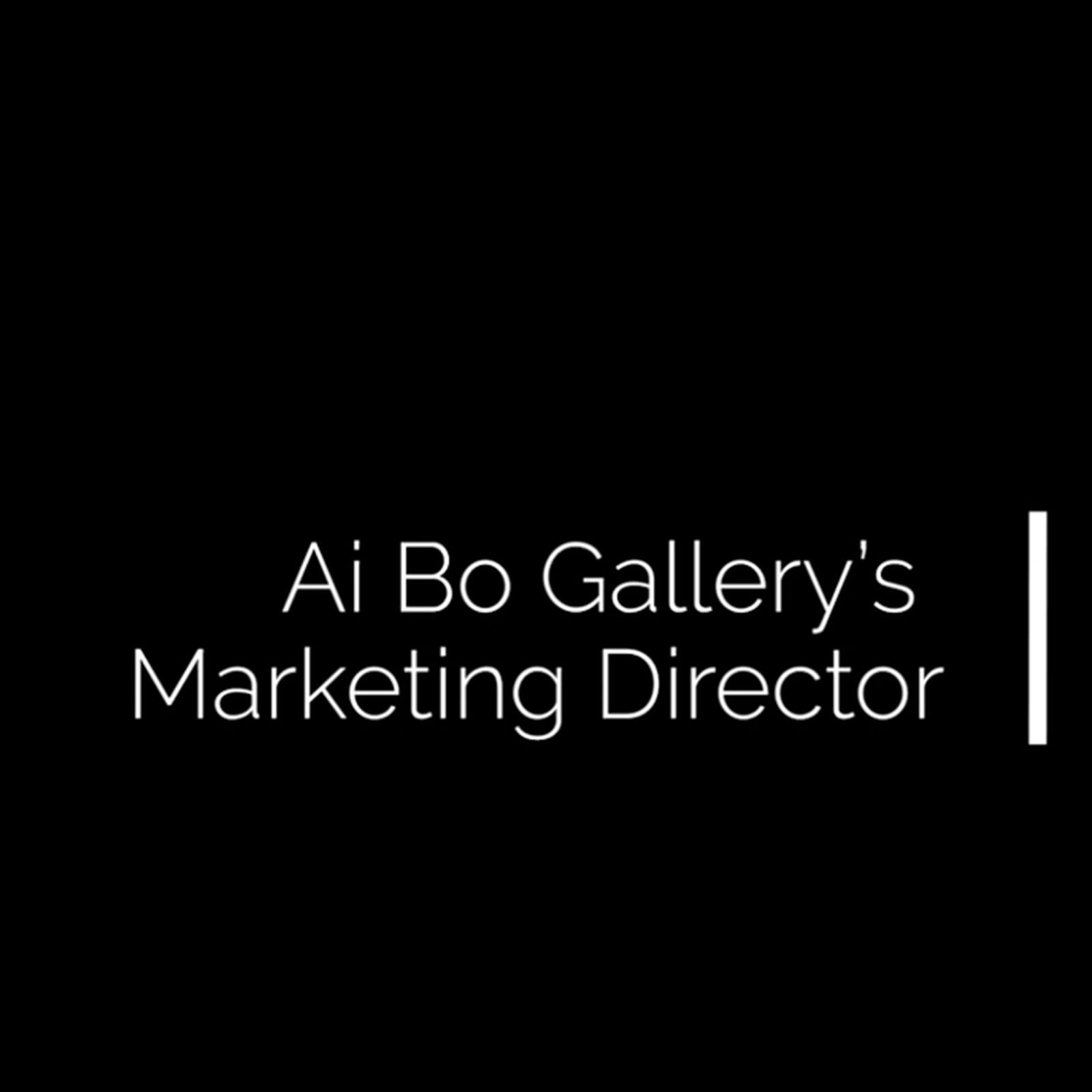 Ai Bo Gallery's Marketing Director