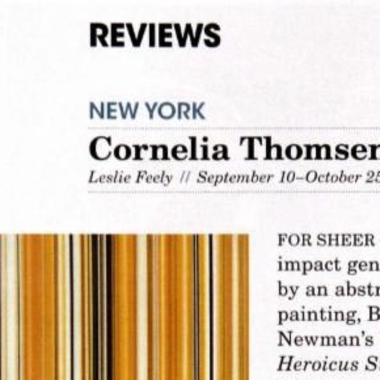 Review in MODERN PAINTERS magazine