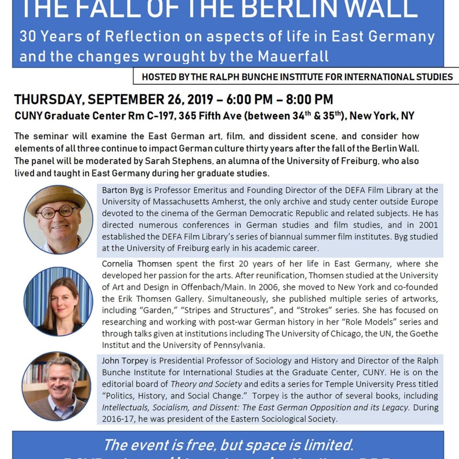 Invitation to seminar at CUNY Graduate Center