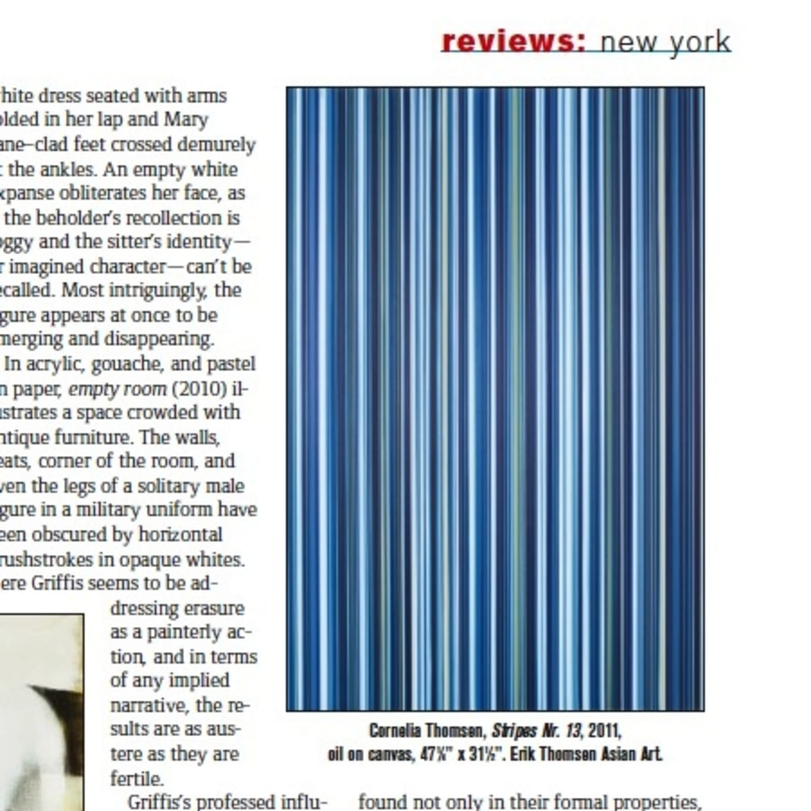 ARTNews Review of the Stripe Paintings exhibition