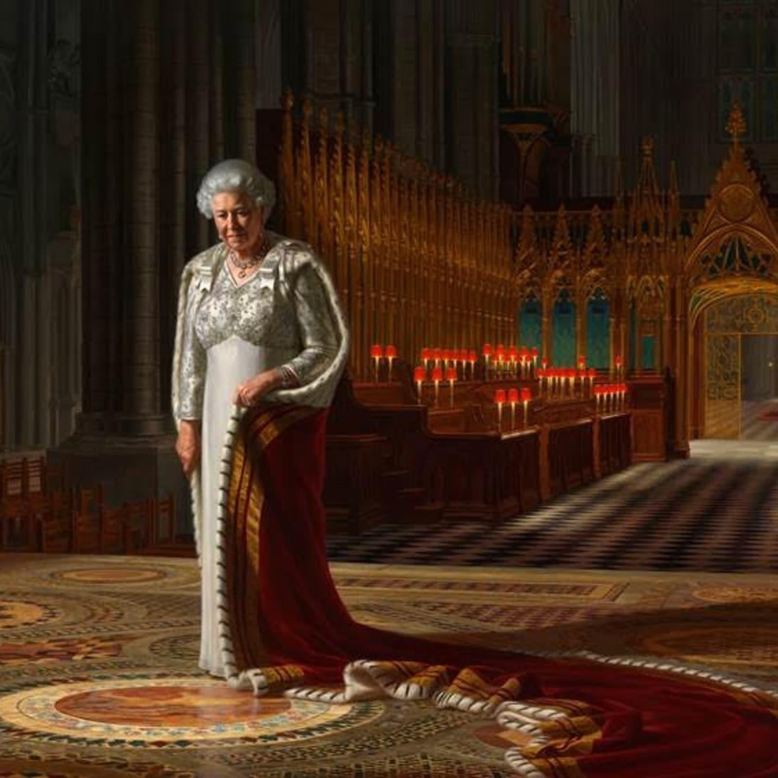 Ralph Heimans, The Coronation Theatre: Her Majesty Queen Elizabeth II, 2013 Oil on canvas, 250 x 342 cm © Ralph Heimans
