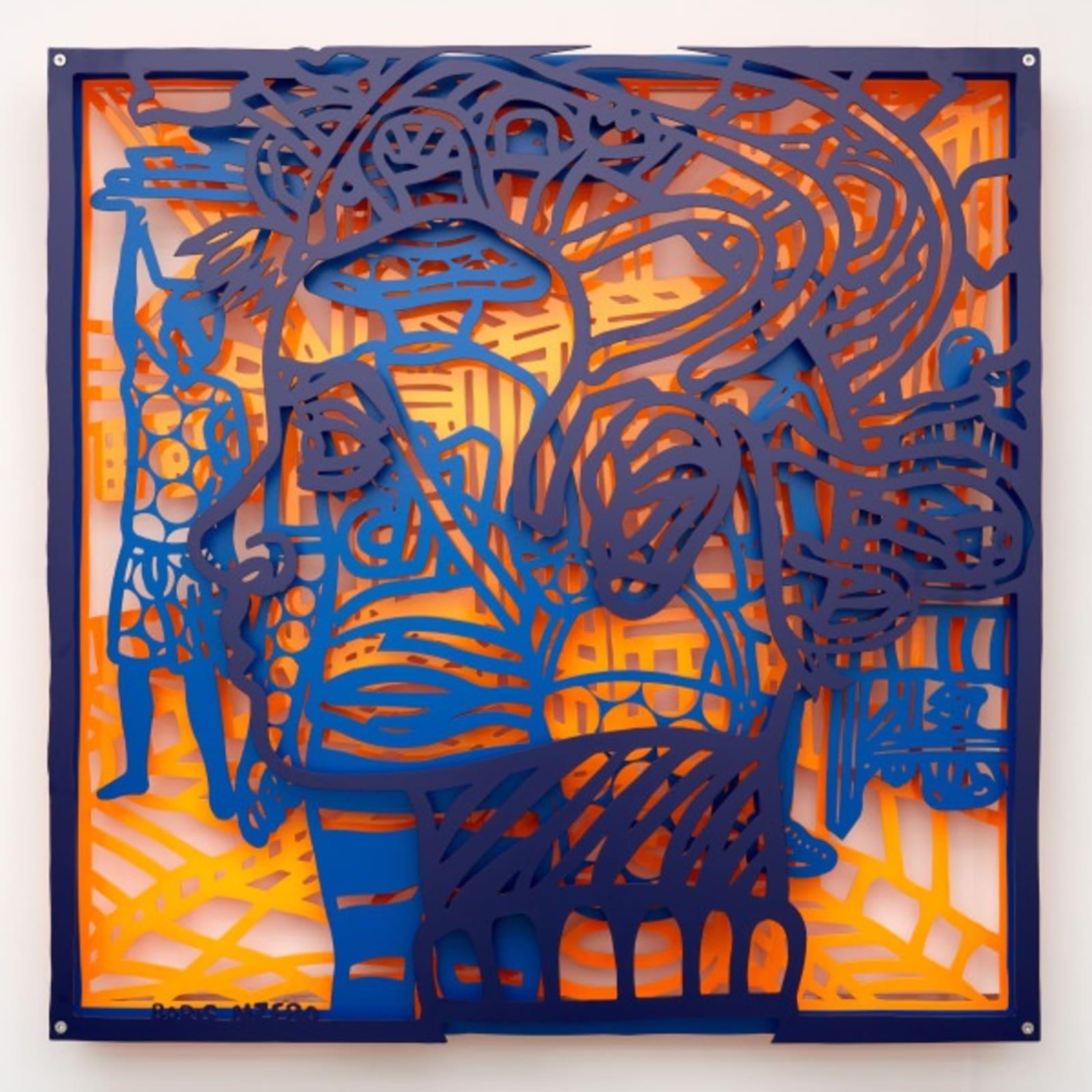 Boris Nzebo, Speed Demon 1, 2019 Powder coated aluminum 122.5 x 122.5 cm Edition of 6 (#3/6)