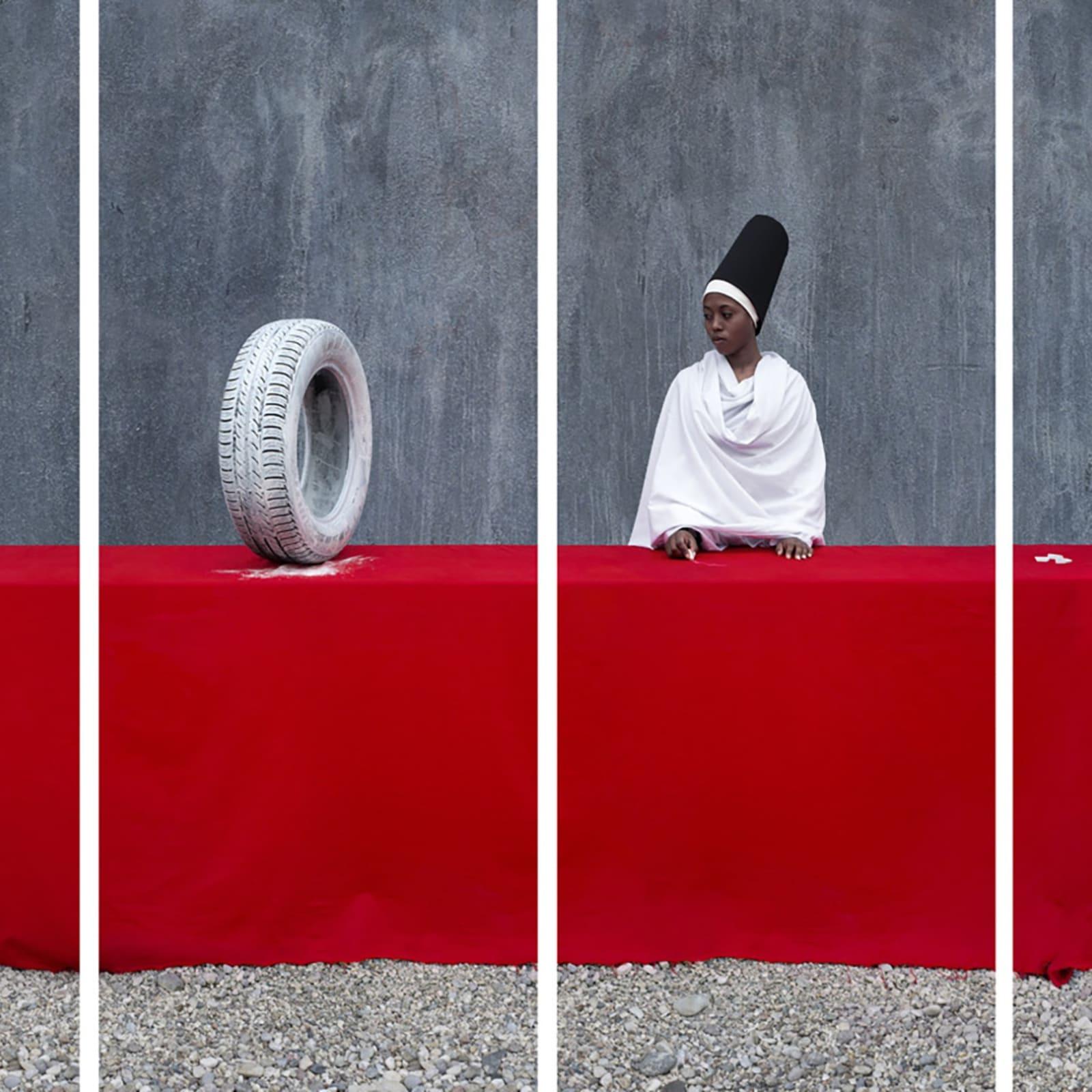 Maïmouna Guerresi, White Rubber Tire (M-eating series), 2014