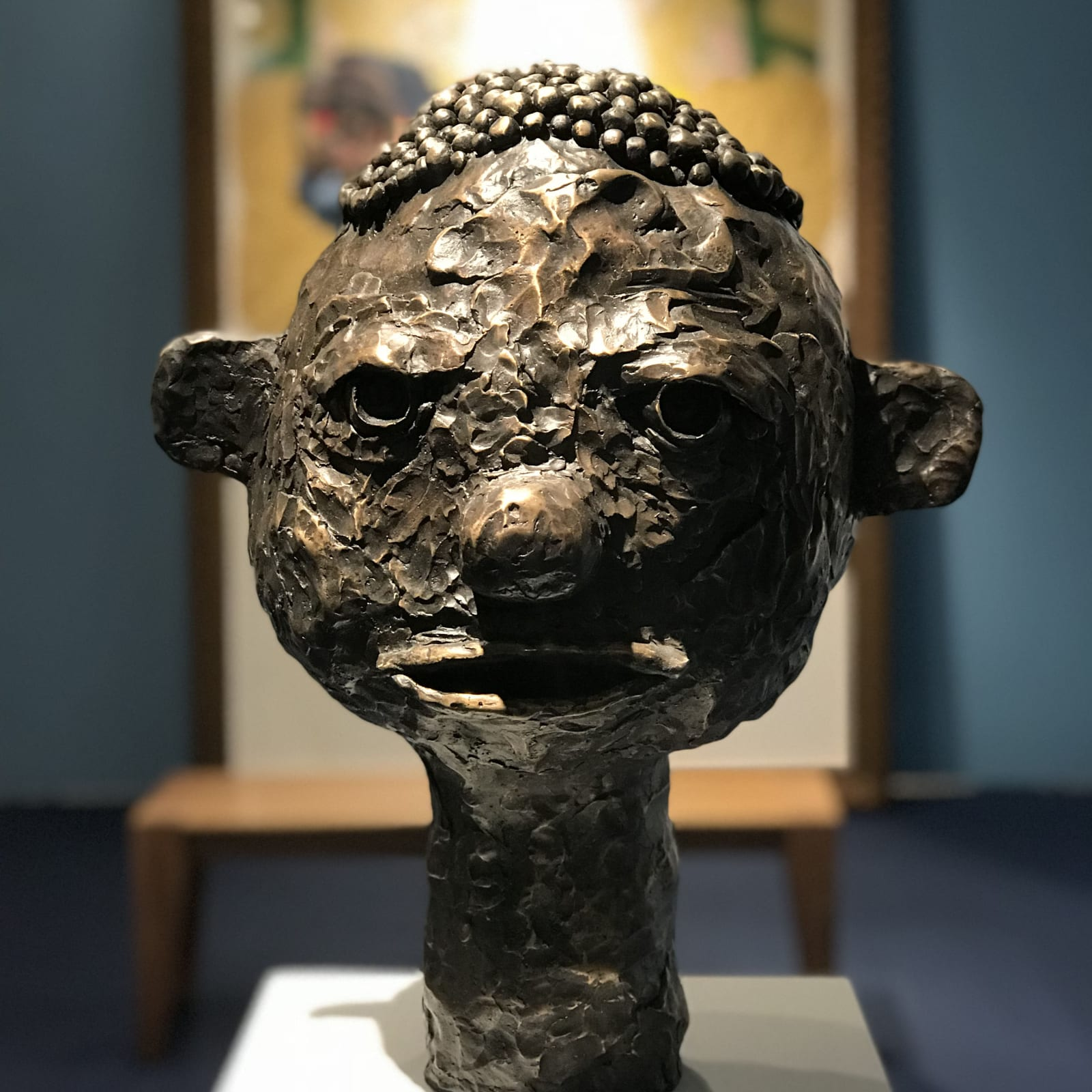 Clotilde Jiménez, Black Boy Head, 2018 Installation view