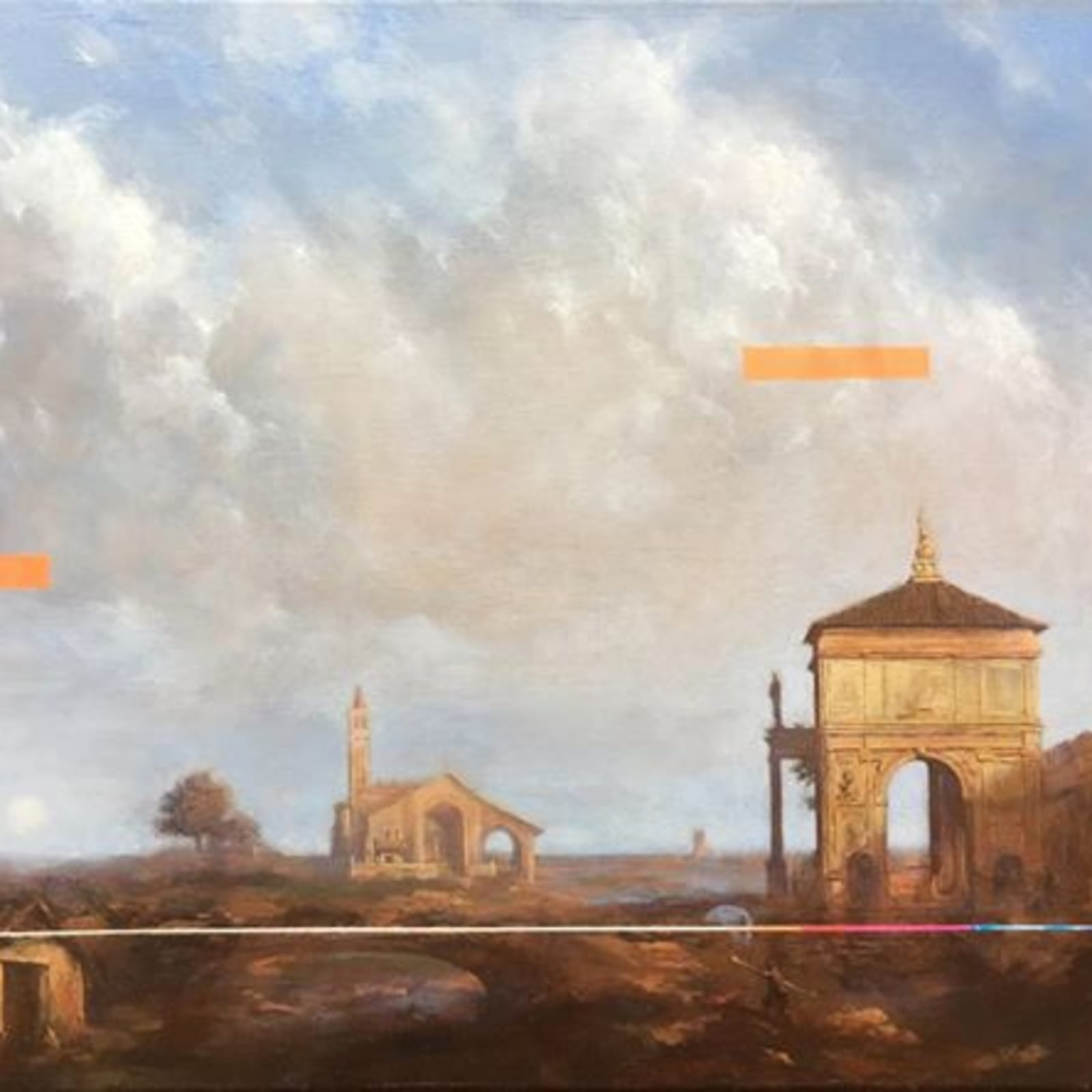 Sean Molloy  After Canaletto  Oil on canvas  25 x 30 cm