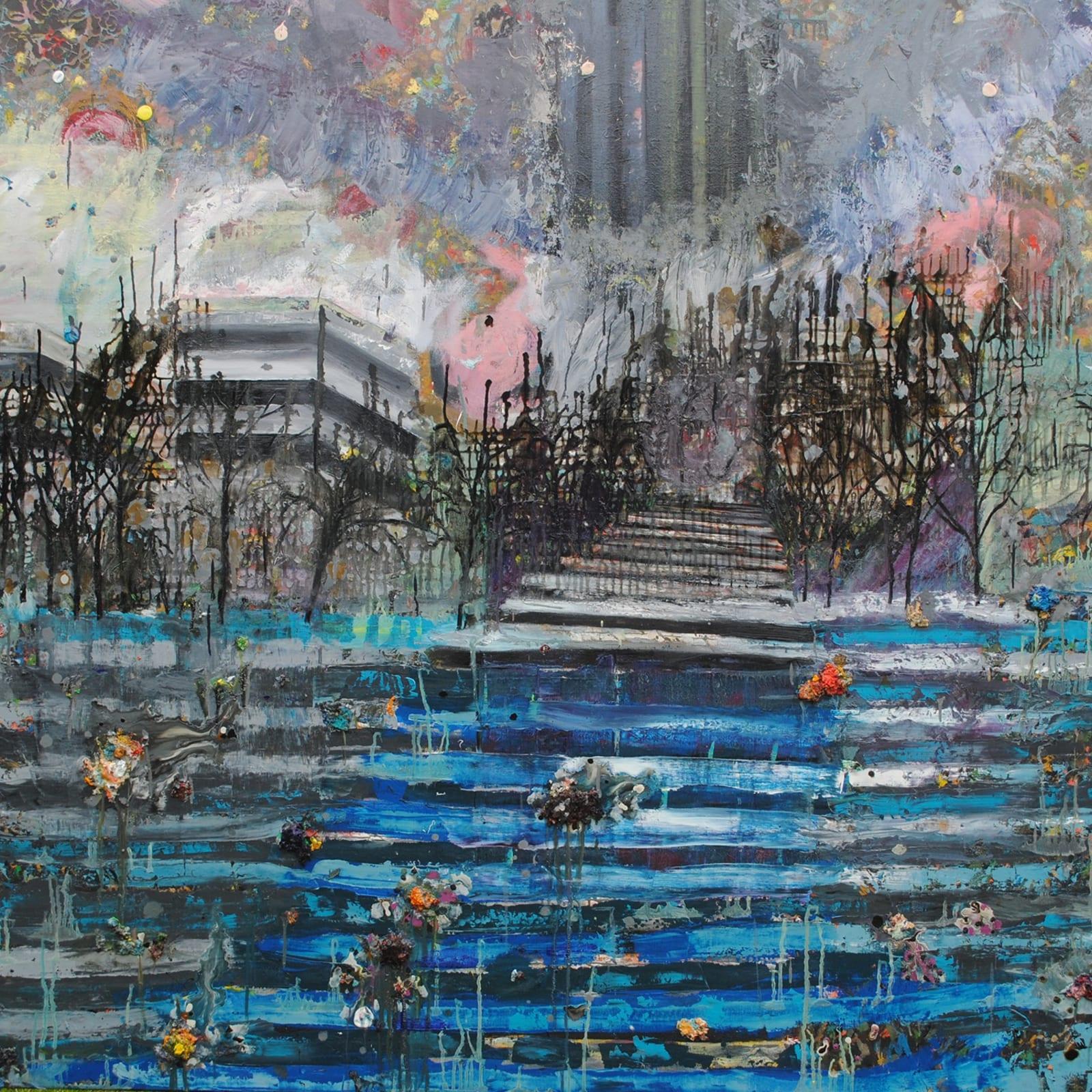 Thomas Brezing  Leaving Nineveh  Oil on canvas  200 x 200cm