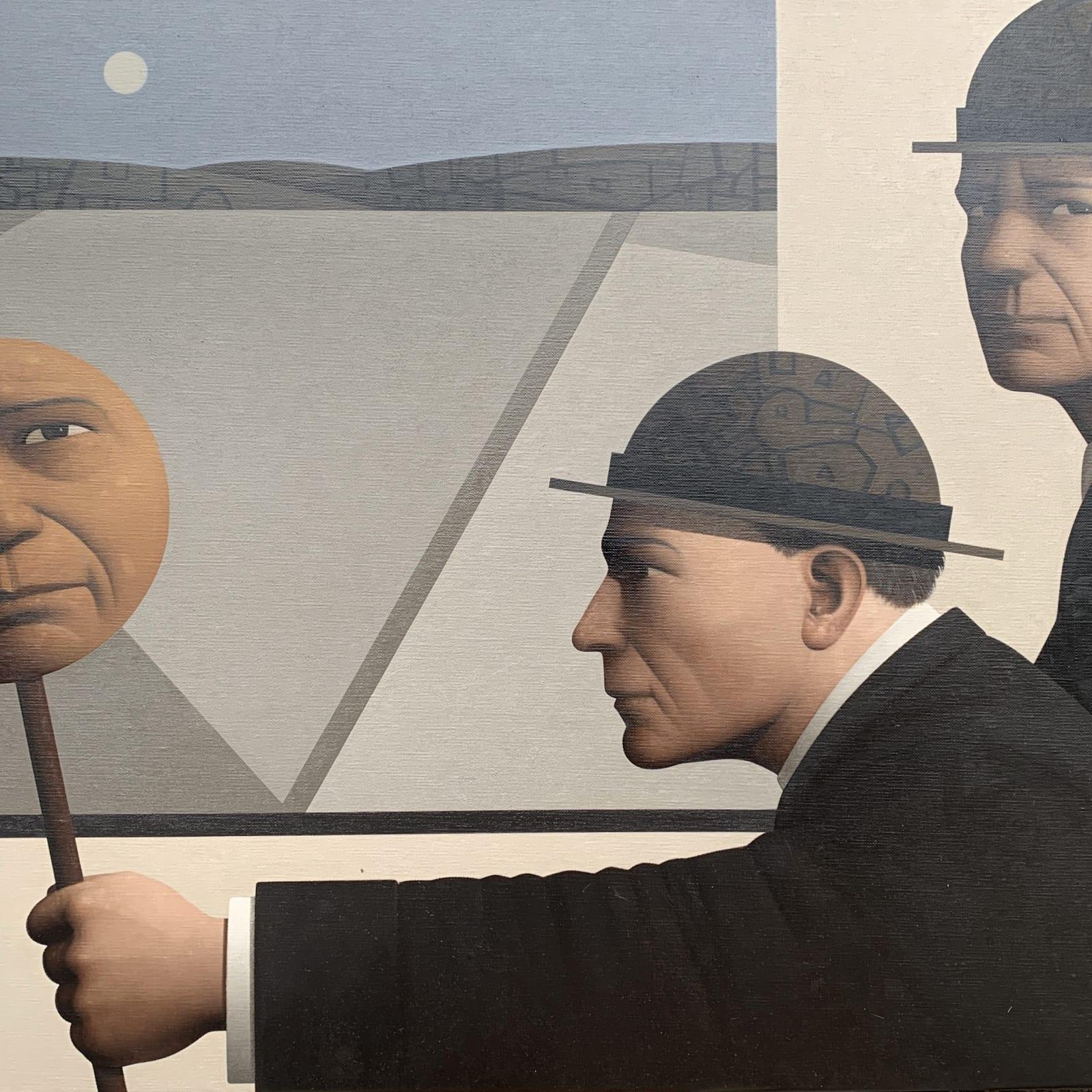 'Ambivalent position', oil on canvas, 50 x 75 cm
