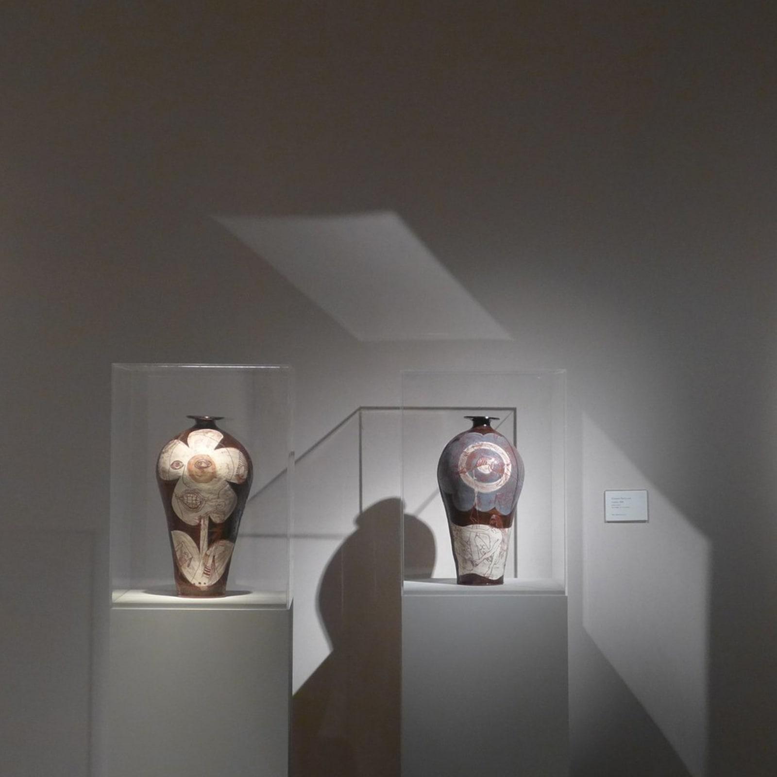 Left to right: David Hockney, Grayson Perry and Allen Jones