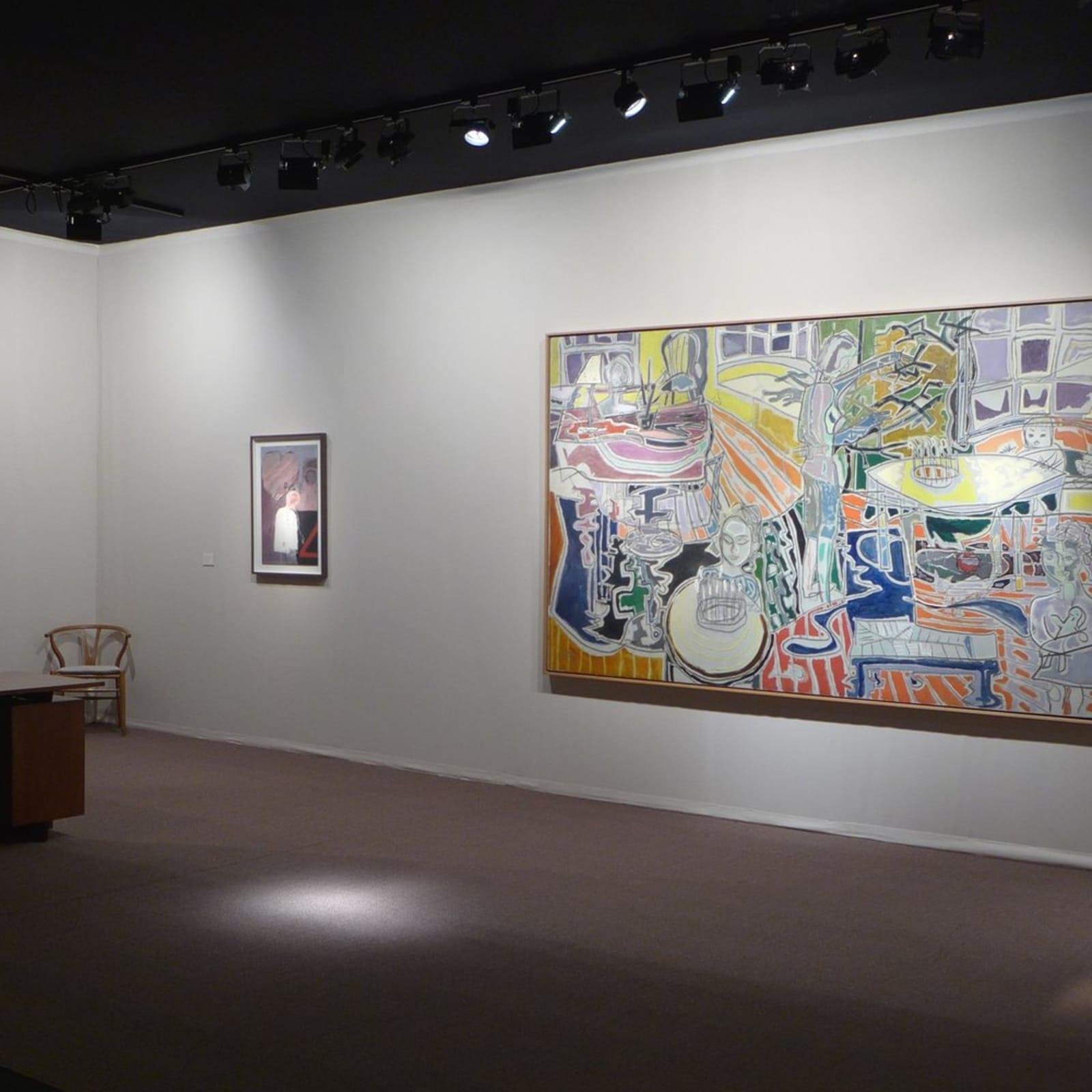 Left to right: Leon Kossoff, David Hockney, Patrick Heron and Grayson Perry