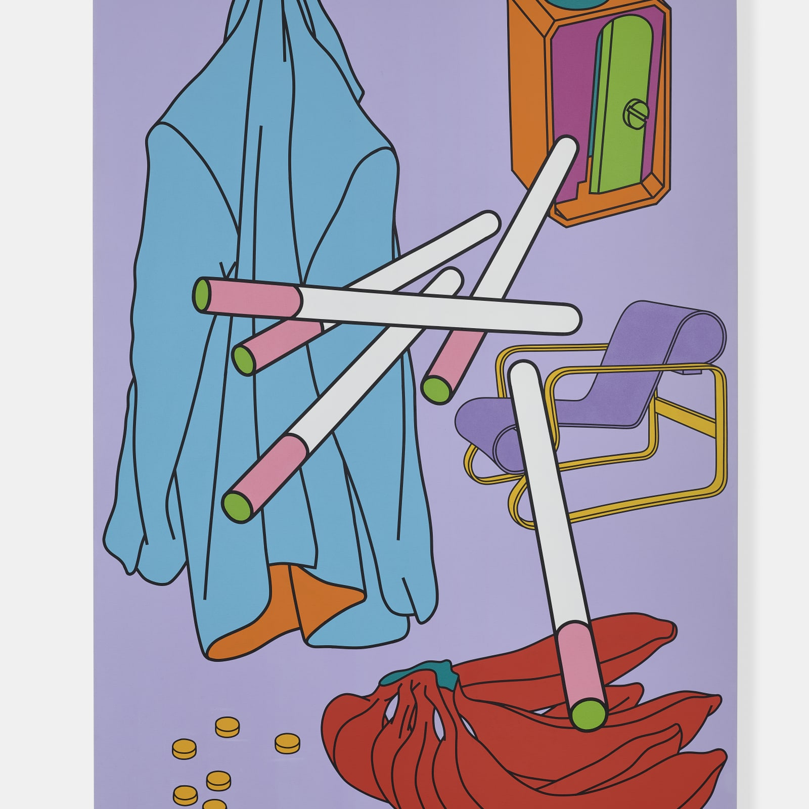 Michael Craig-Martin  b.1941  Untitled, 2000  acrylic on canvas  84 x 56 inches / 213.4 x 142.2 cm