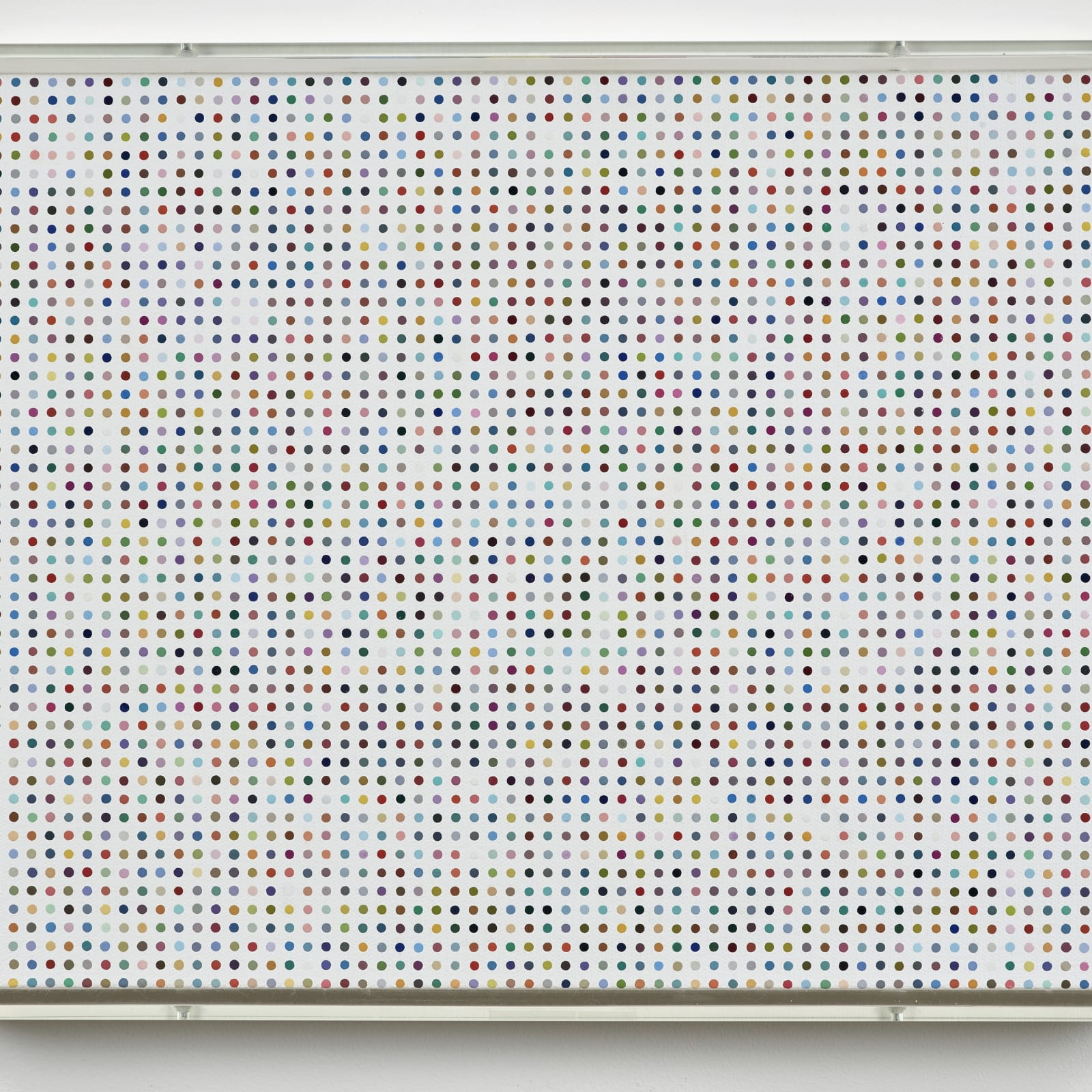 Damien Hirst  b.1965  Catechol, 2009  HIRST 2009.0379  household gloss on canvas, 3mm spot  11 3/4 x 16 3/8 inches / 29.7 x 41.7 cm