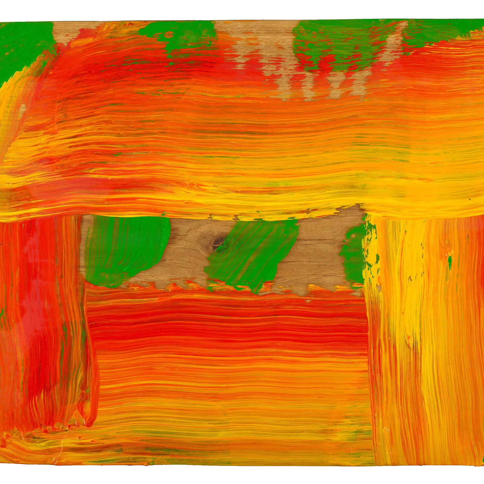 Howard Hodgkin  1932-2017  Through a Glass Darkly, 2015-16  oil on wood  10 7/8 x 16 1/4 inches / 27.5 x 41.3 cm