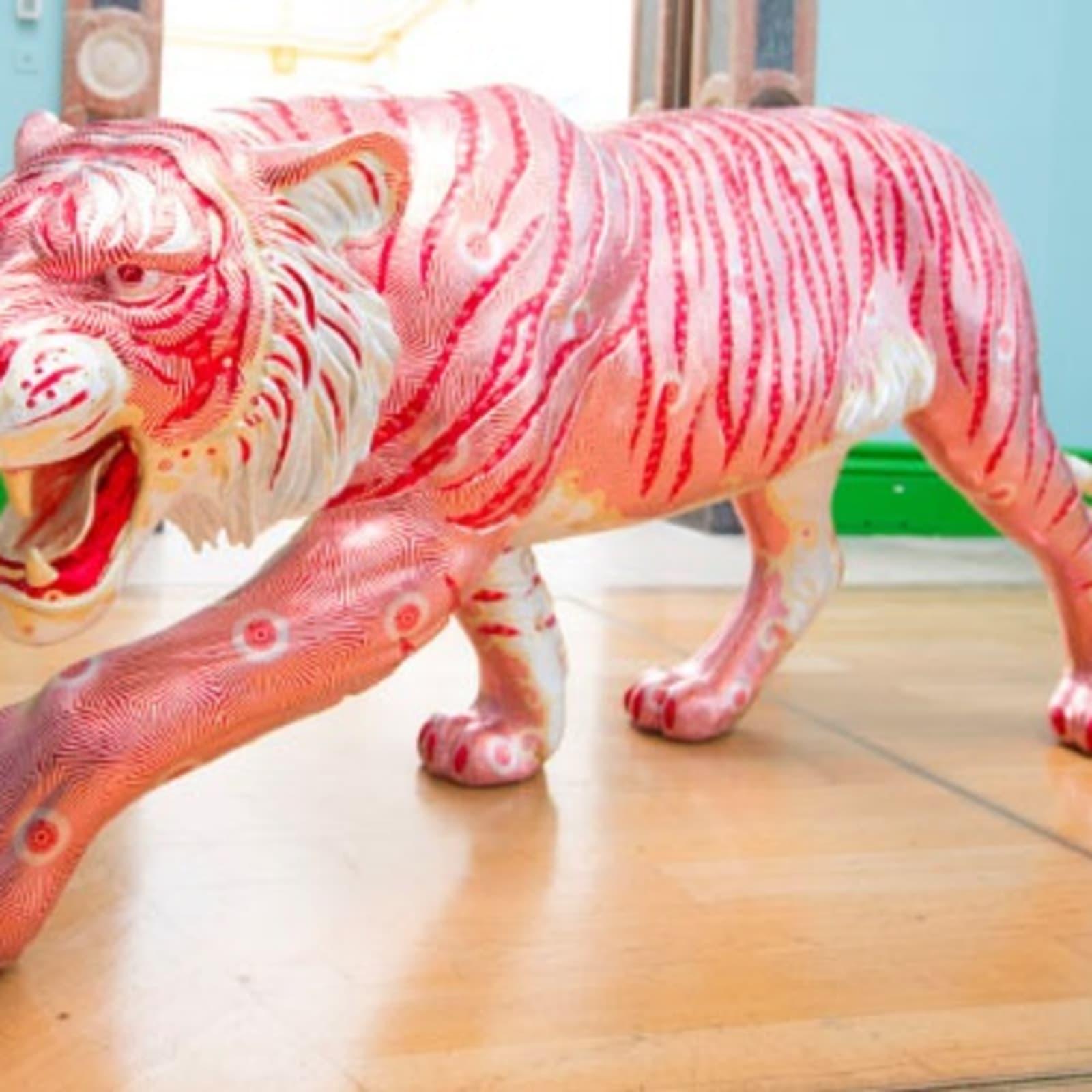 David Mach & Robert Mach, Easy Tiger, 2019, Resin & foil, Edition of 4