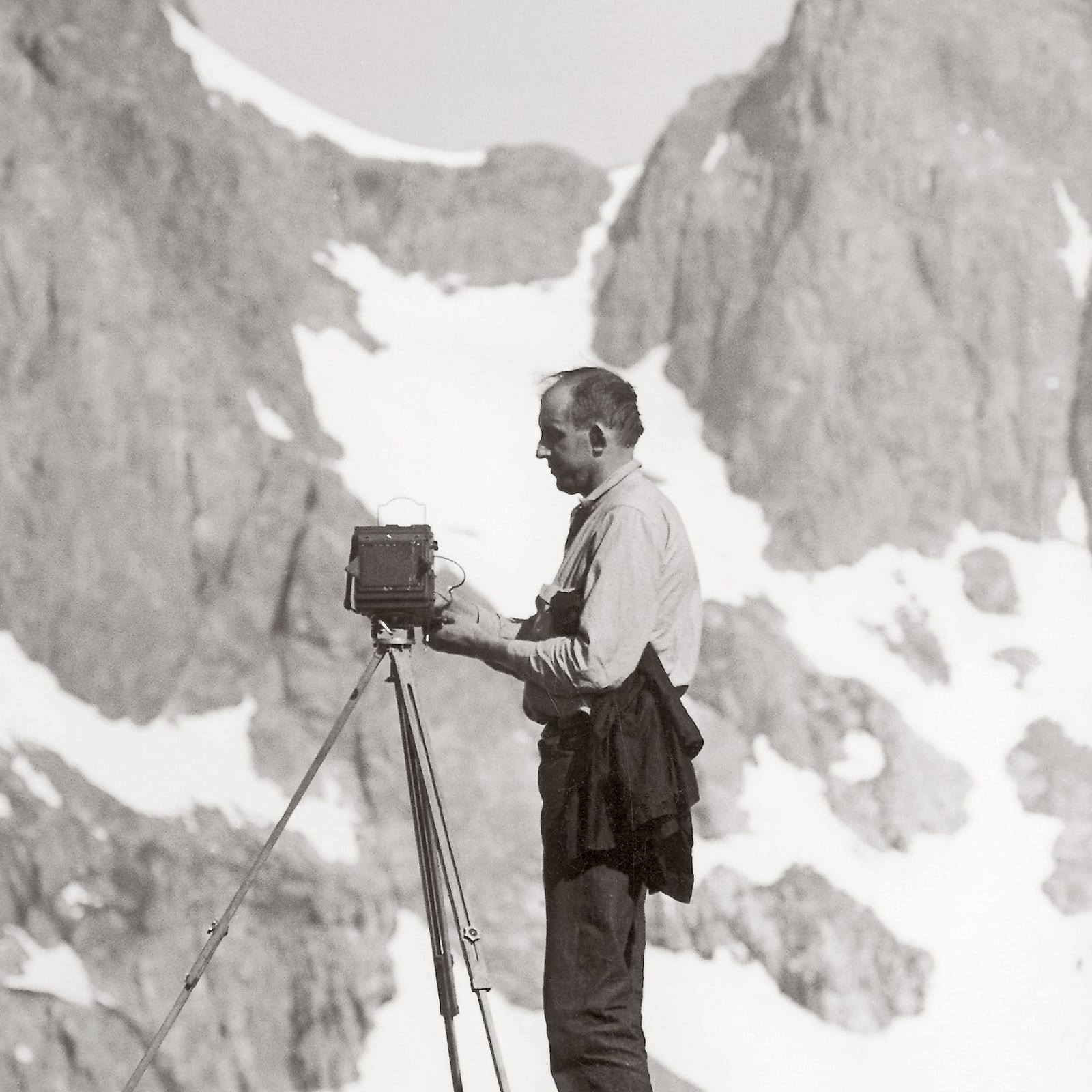 Ansel Adams in the Sierra, late 1930s